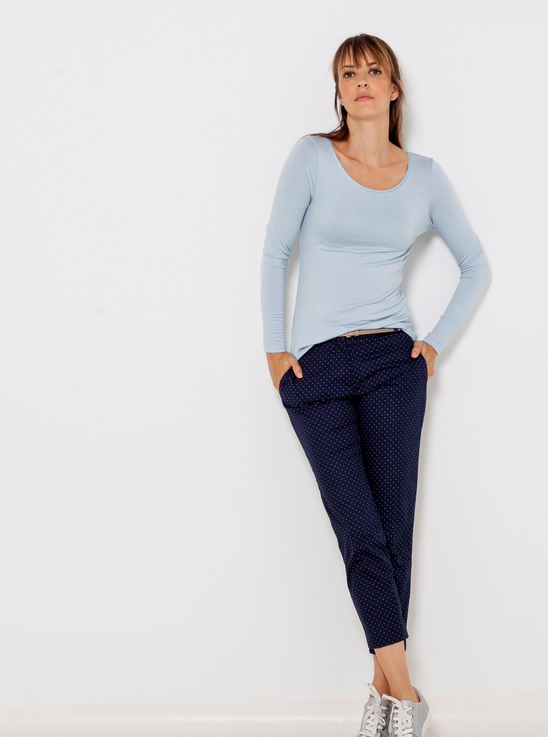 CAMAIEU blue women´s T-shirt