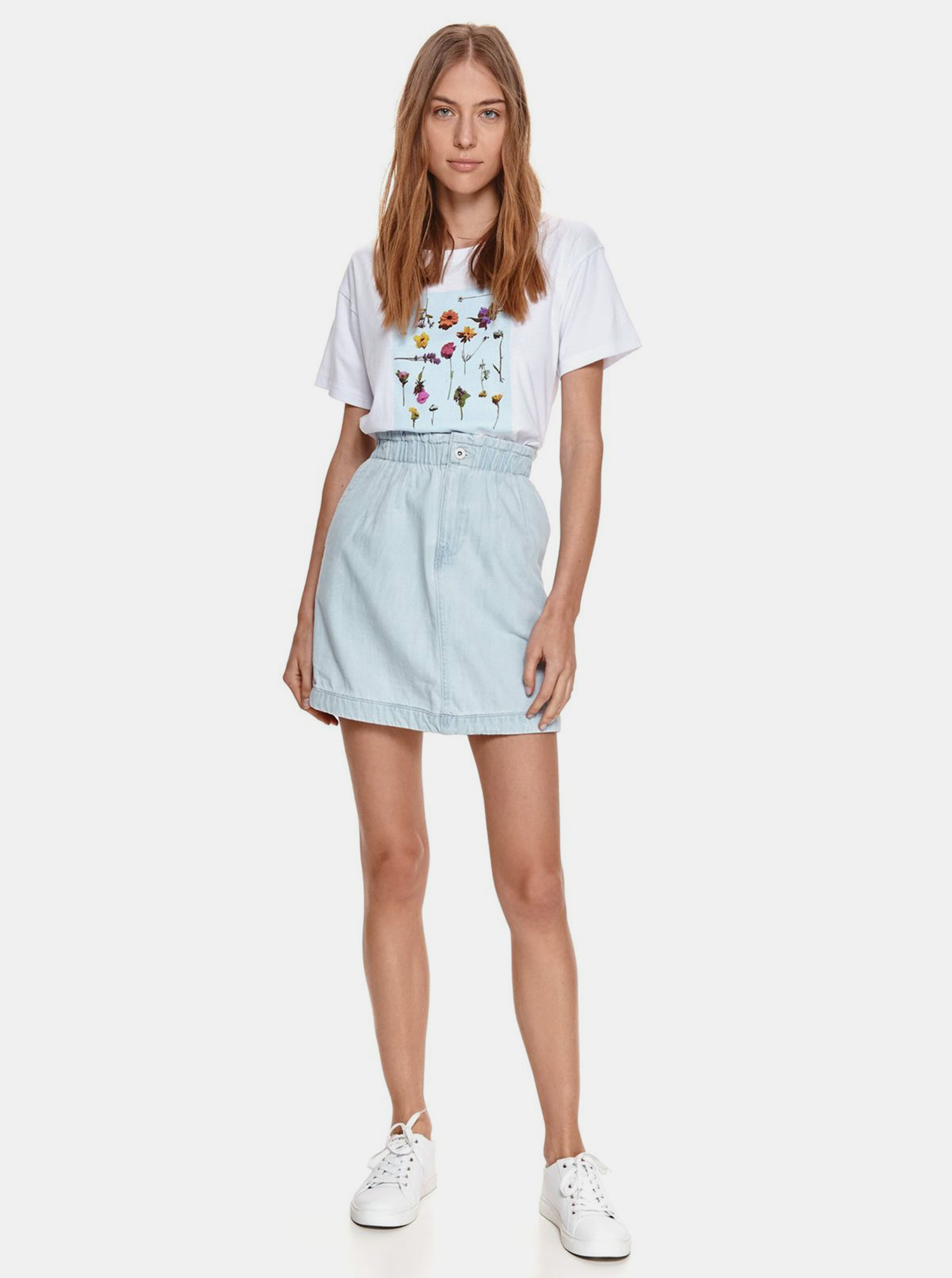 TOP SECRET white T-shirt with print
