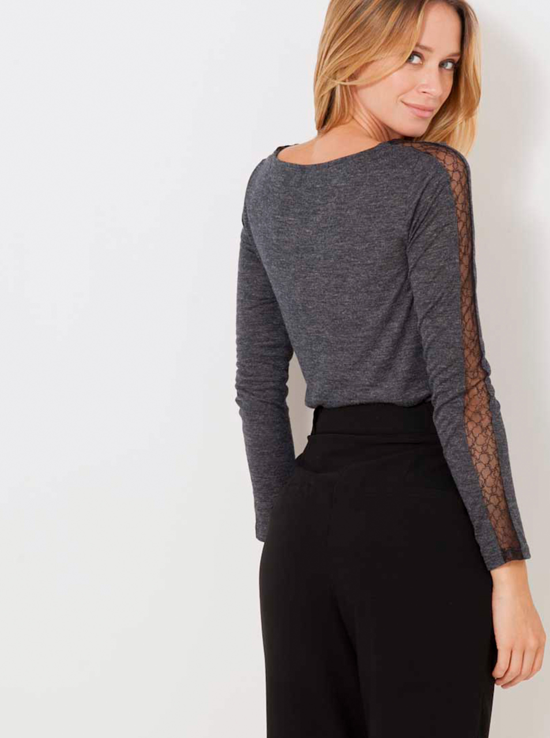 CAMAIEU Women's t-shirt grey
