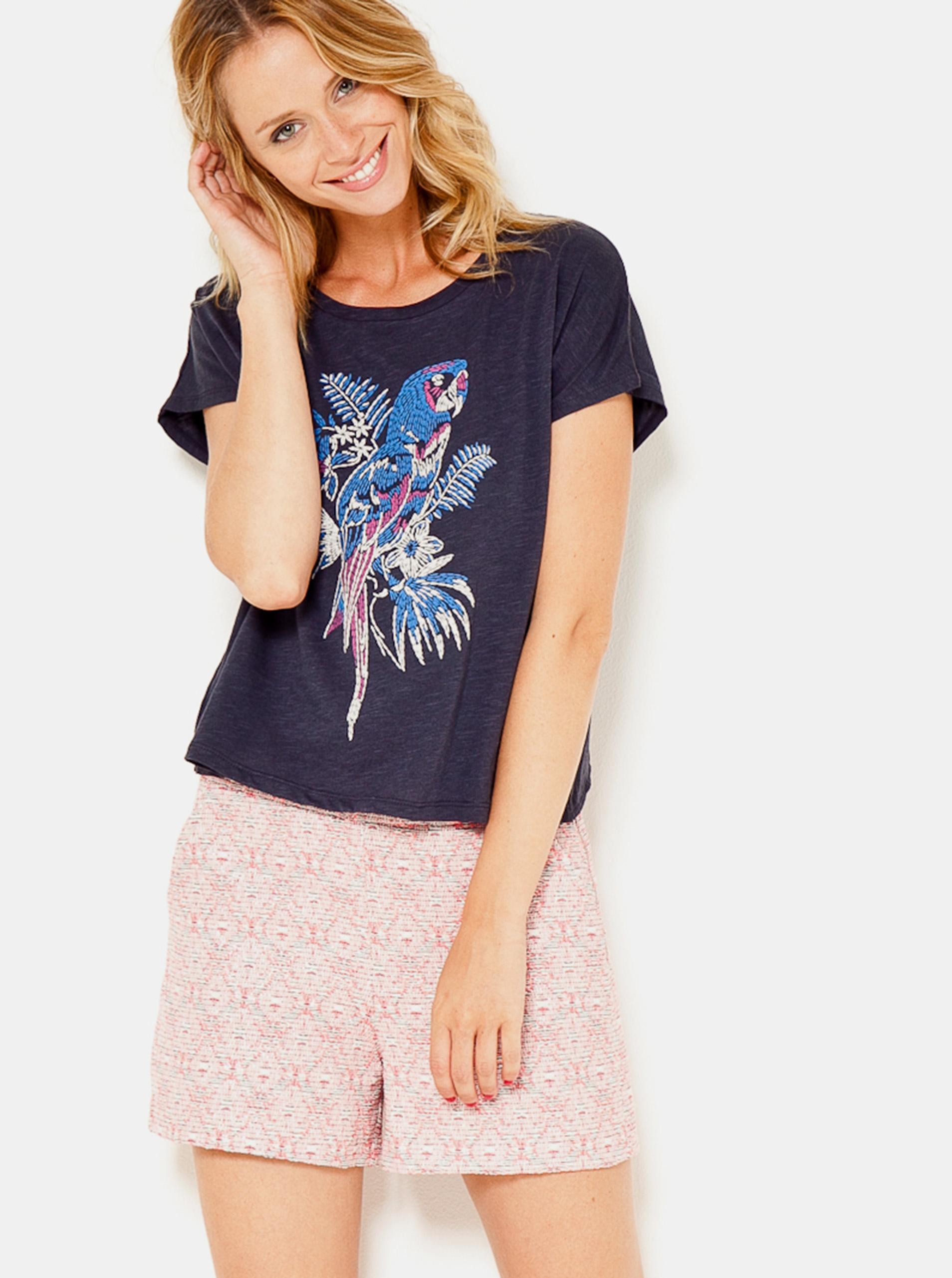 CAMAIEU blue women´s T-shirt with print
