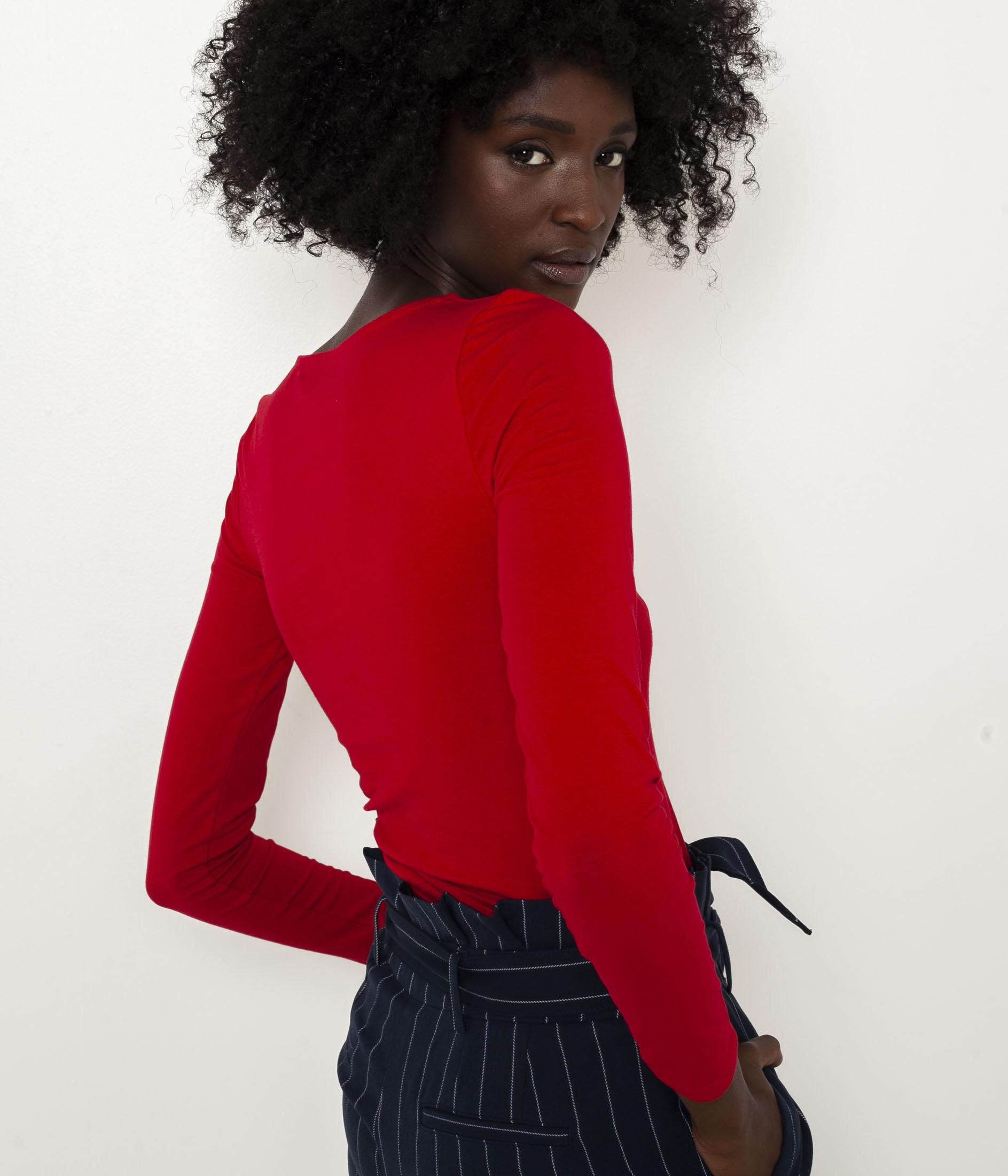 CAMAIEU Women's t-shirt red