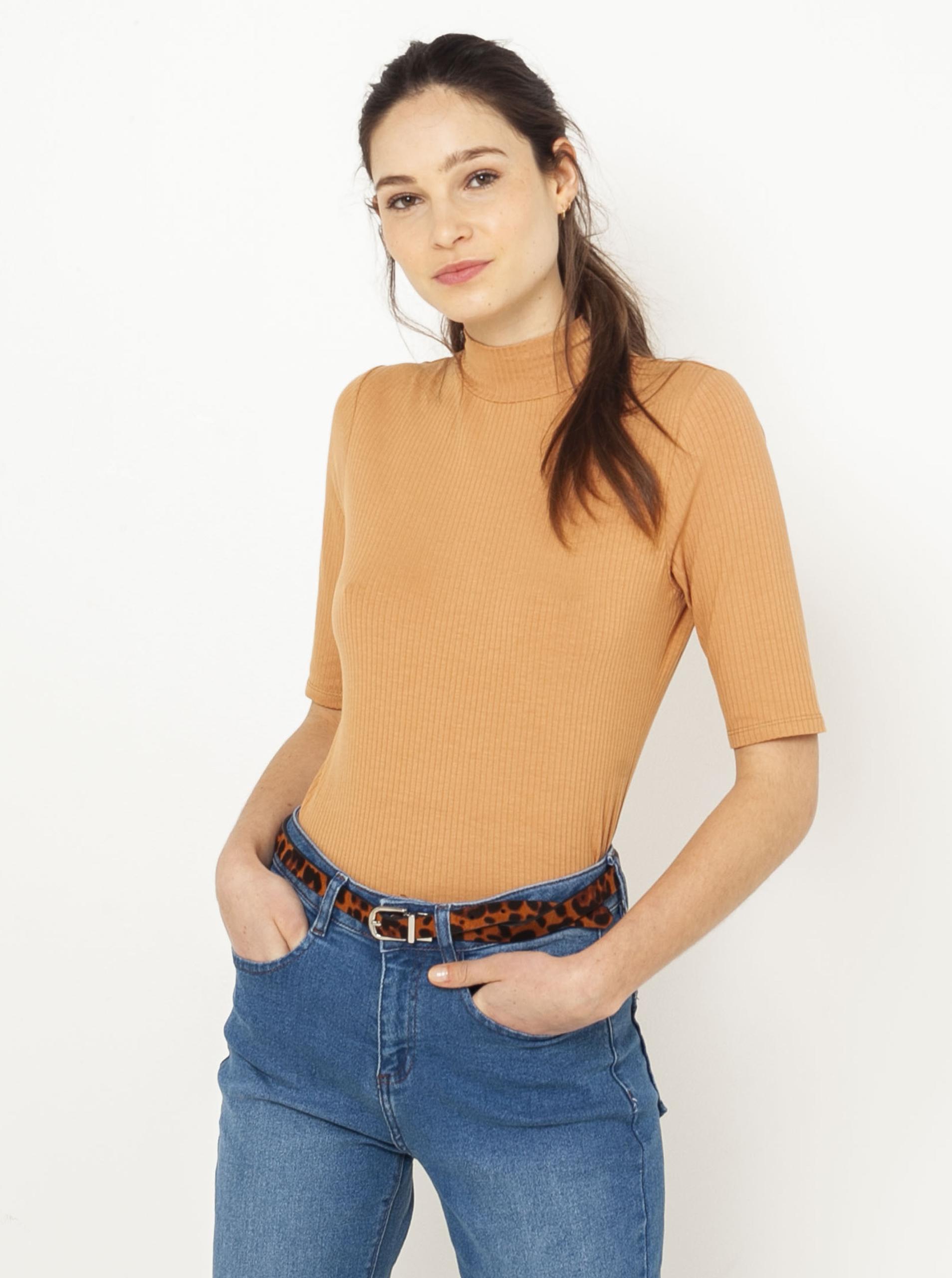 CAMAIEU Women's t-shirt brown
