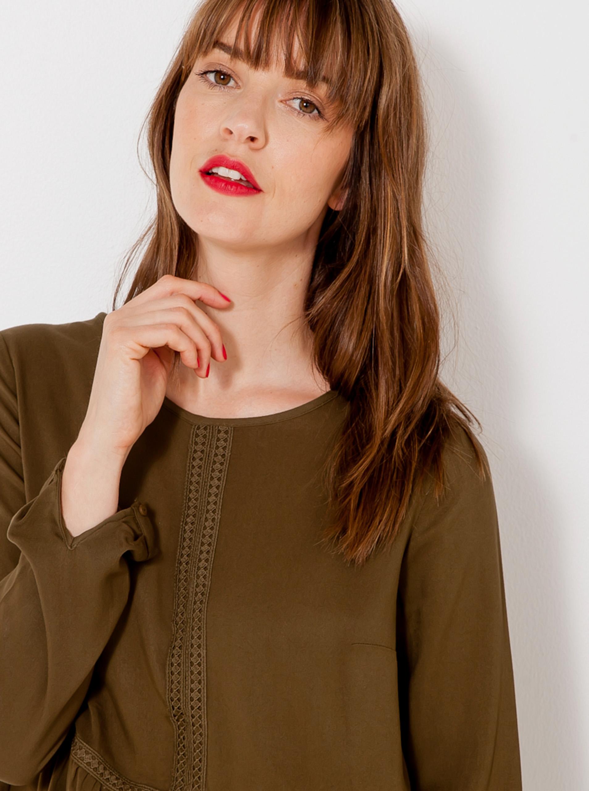 CAMAIEU Women's blouse khaki