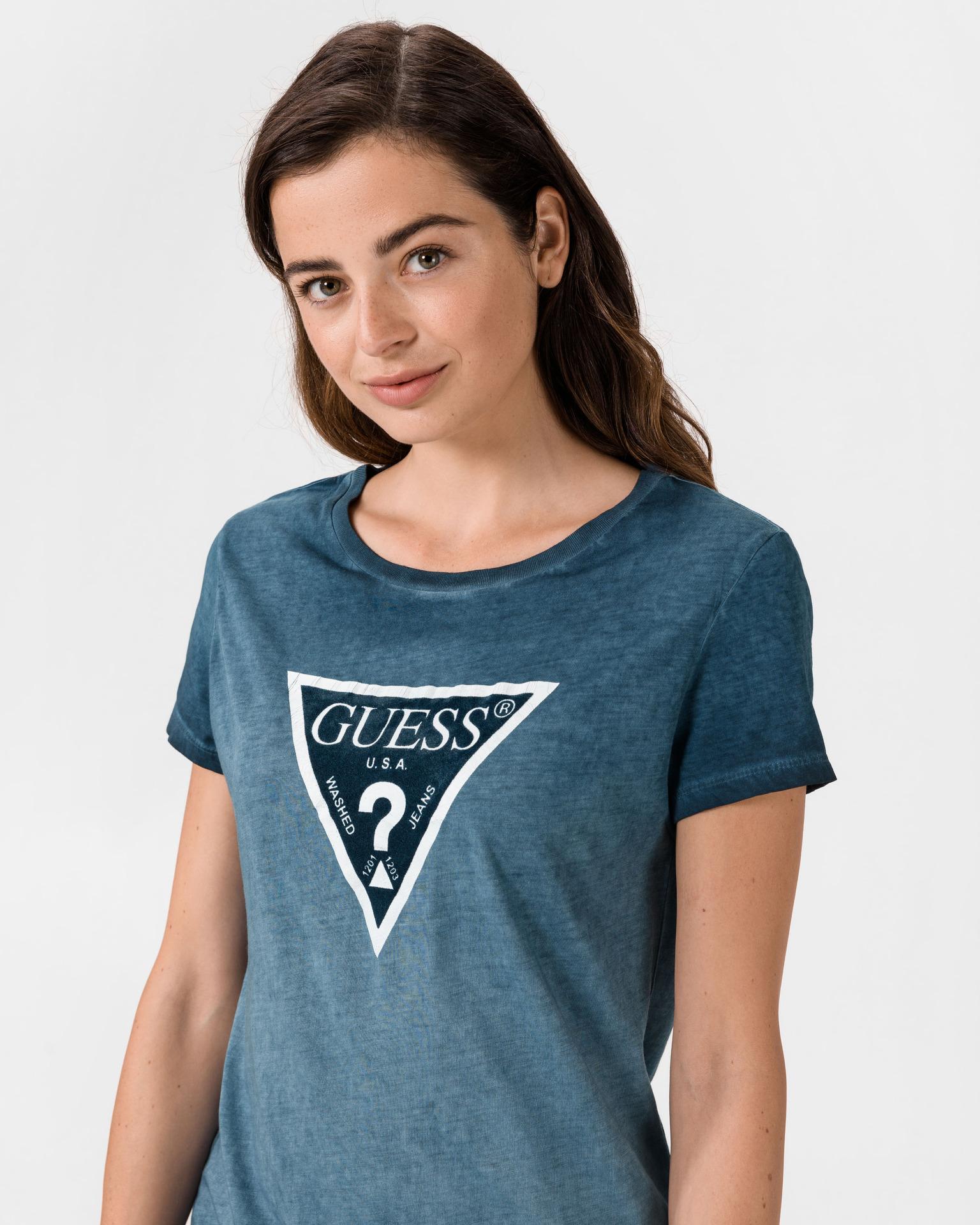 Guess Women's t-shirt blue Triko