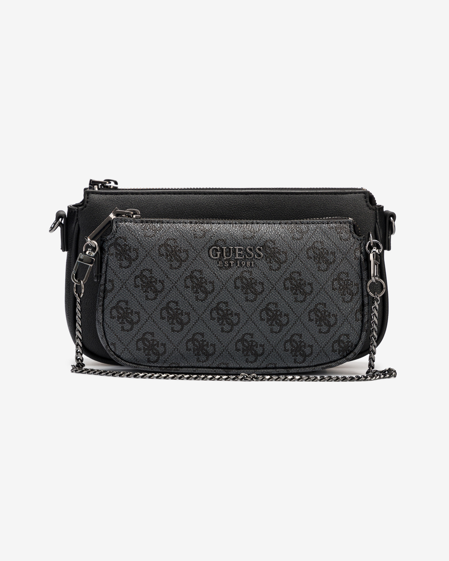 Guess black 2in1 crossbody handbag Mika Double Pouch