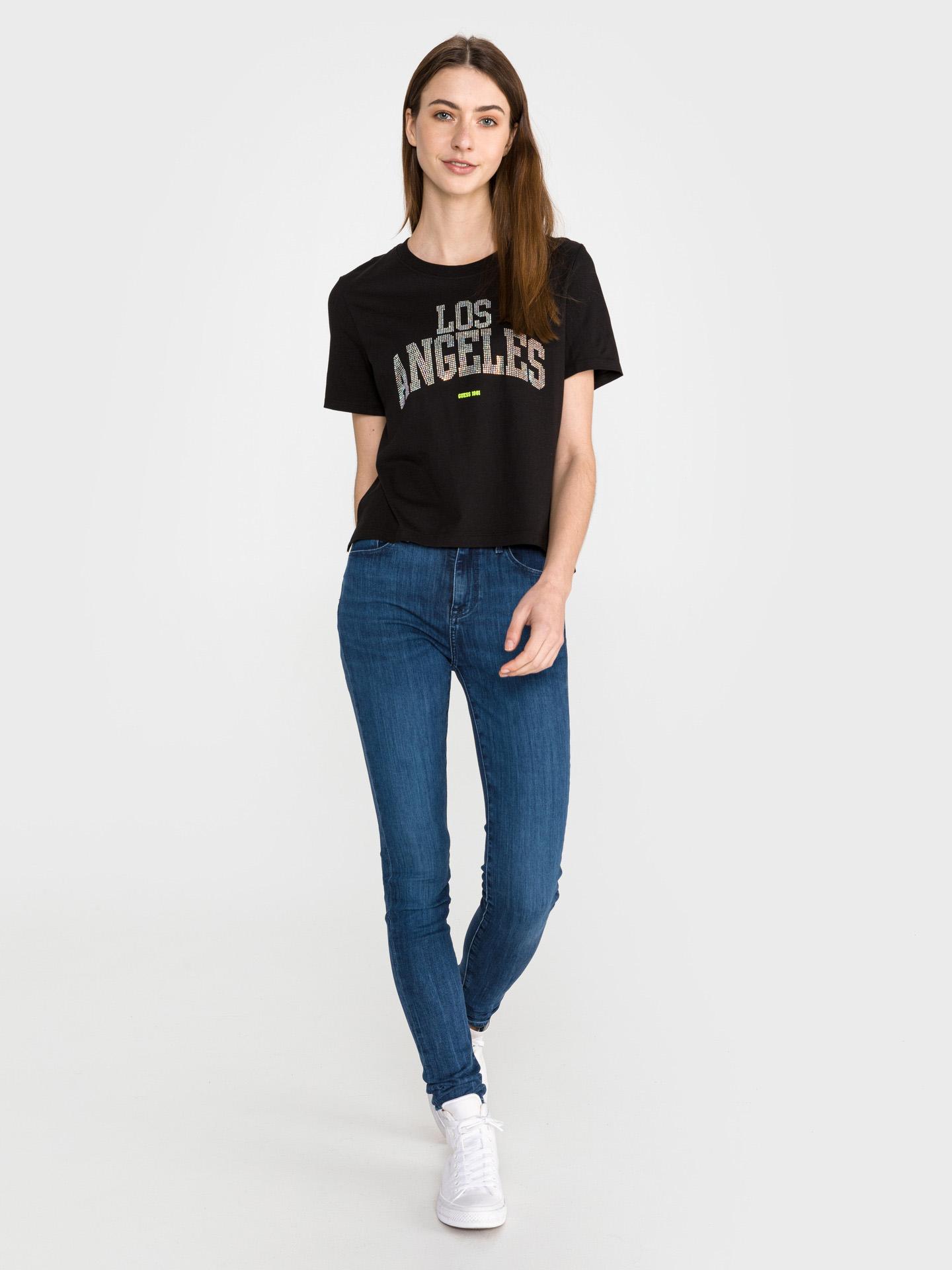 Guess black T-shirt Glam