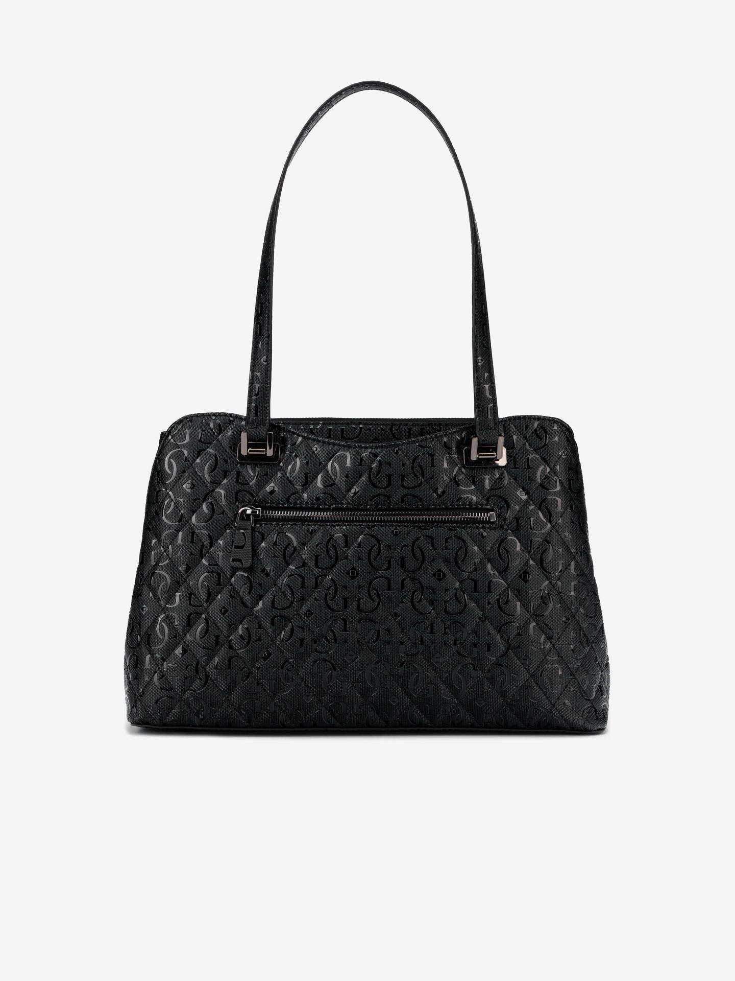 Guess black handbag Lola Glossy Logo Maxi