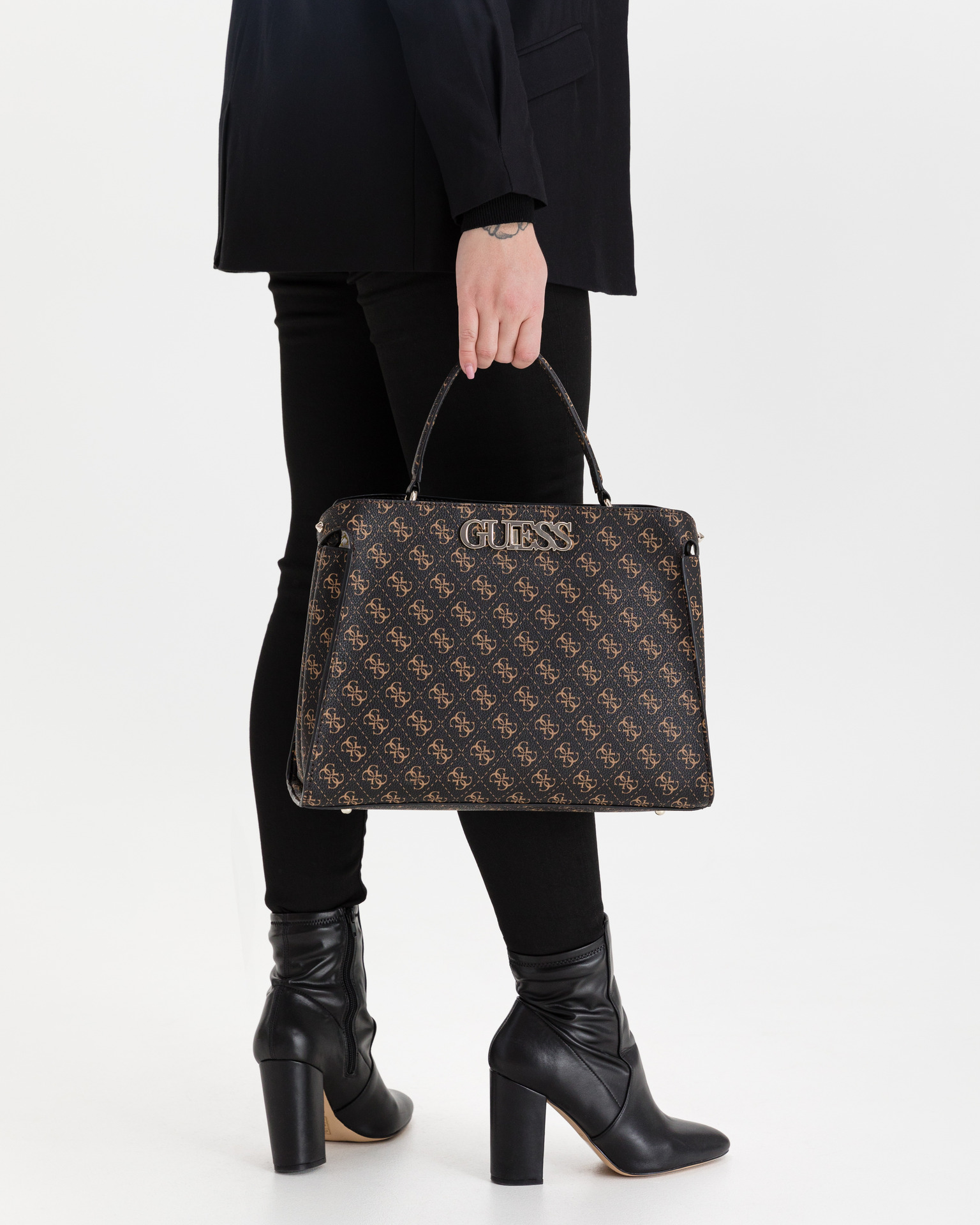 Guess brown handbag Uptown Chic Large