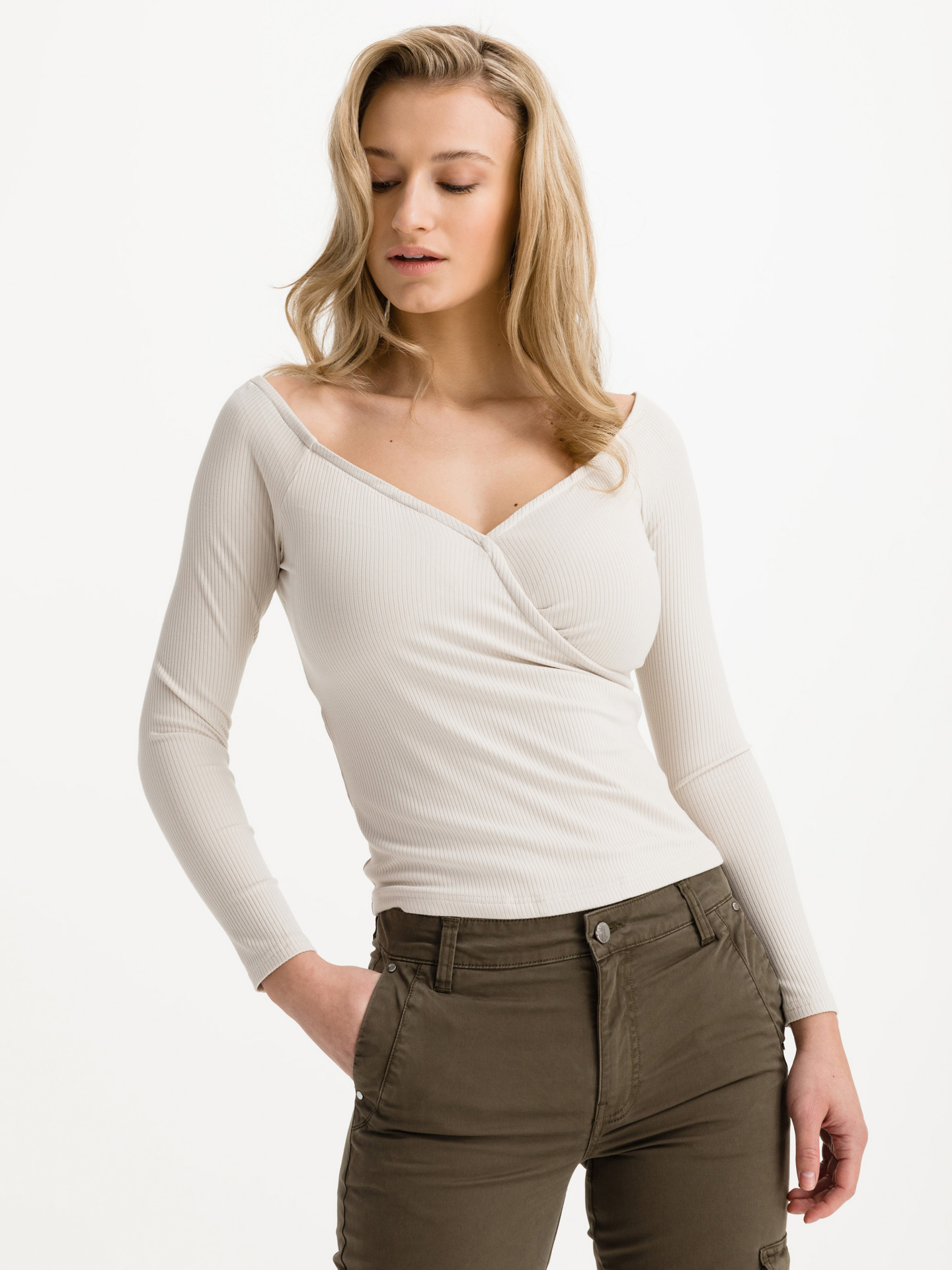 Guess beige T-shirt Sonay