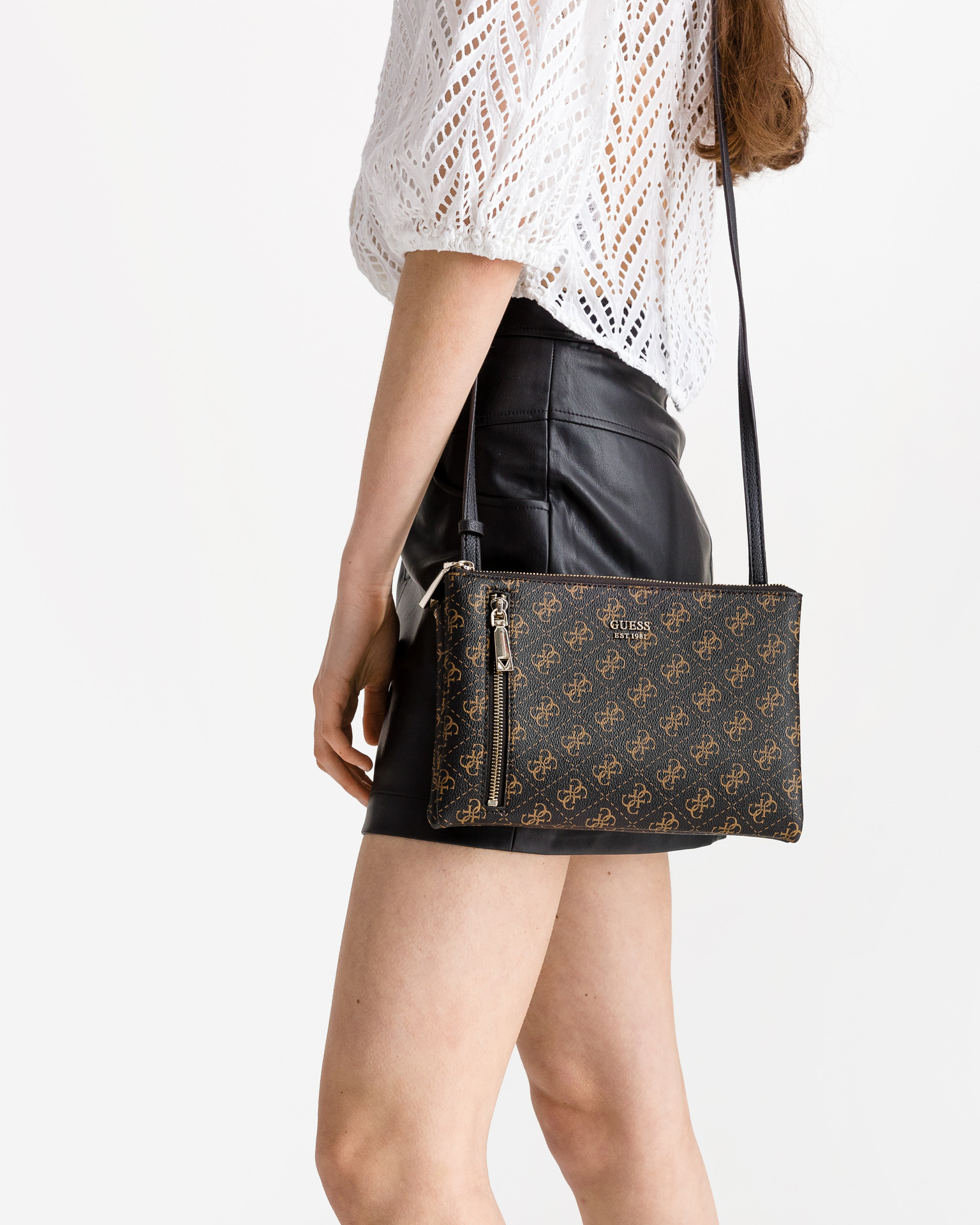 Guess brown crossbody handbag Naya