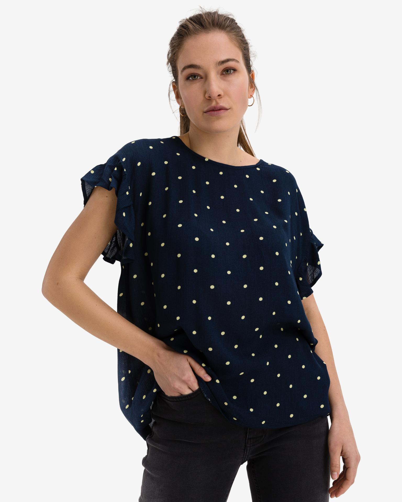 Ichi blue blouse Marrakech