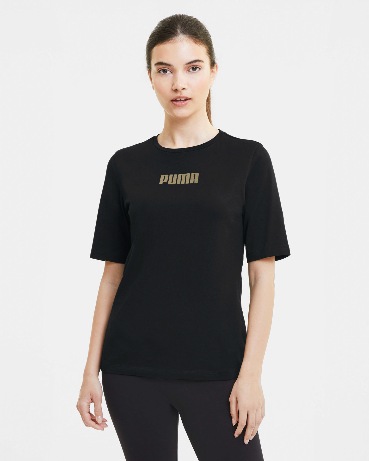 Puma Women's t-shirt black  Basics