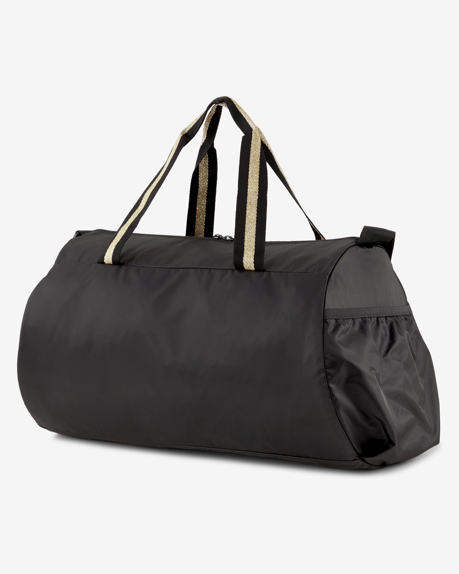 Puma black travel bag AT ESS Barrel