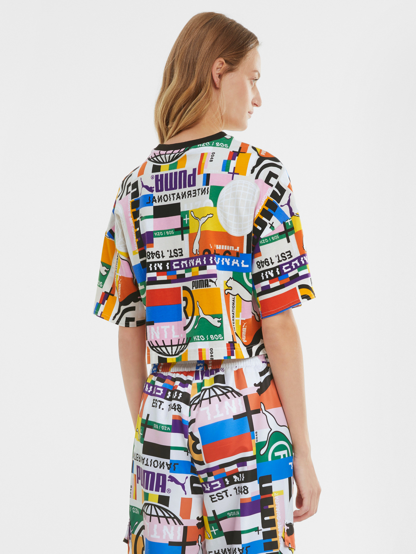 Puma multicolor women´s T-shirt PI AOP