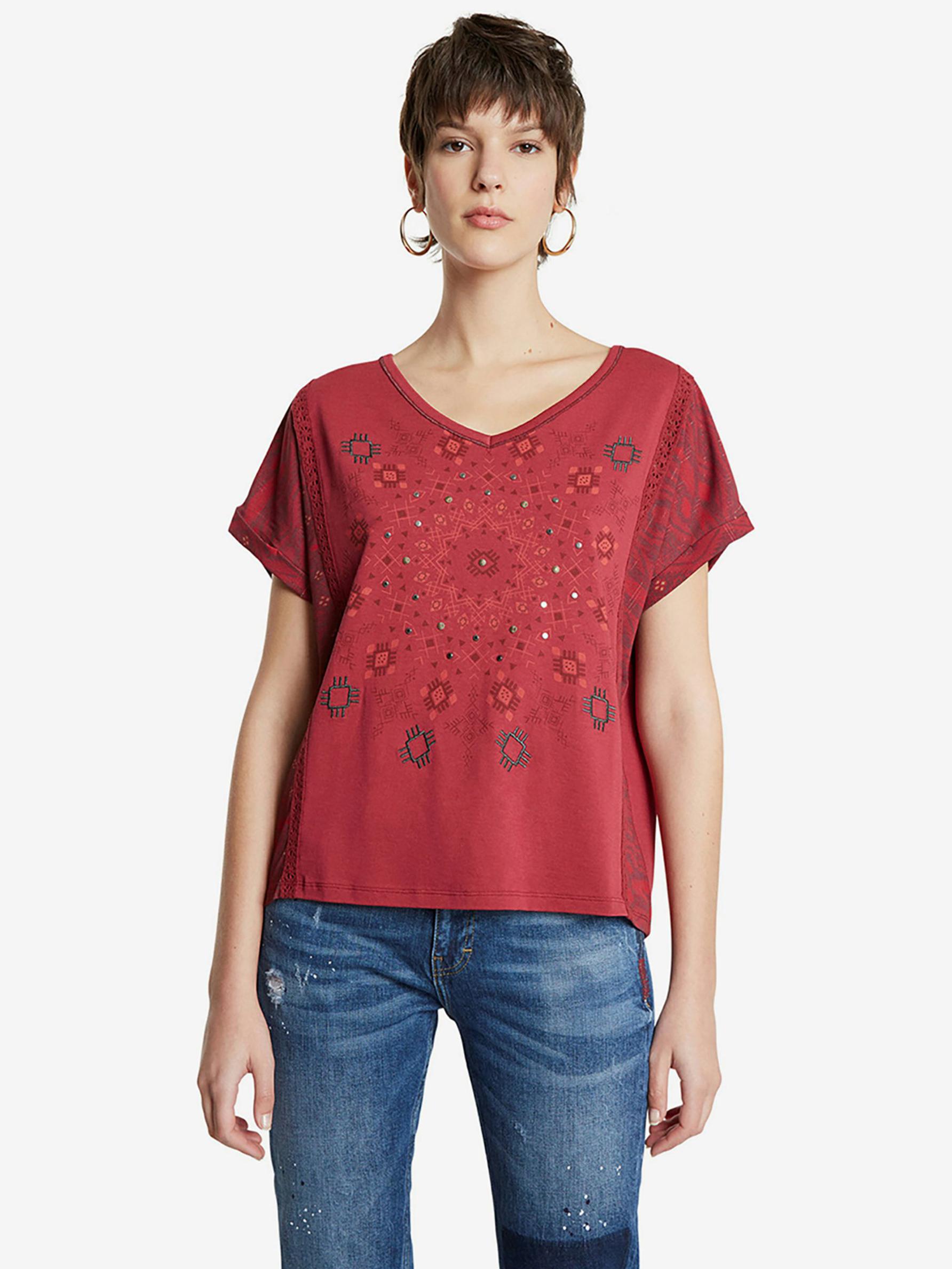 Desigual Detroit T-shirt Red