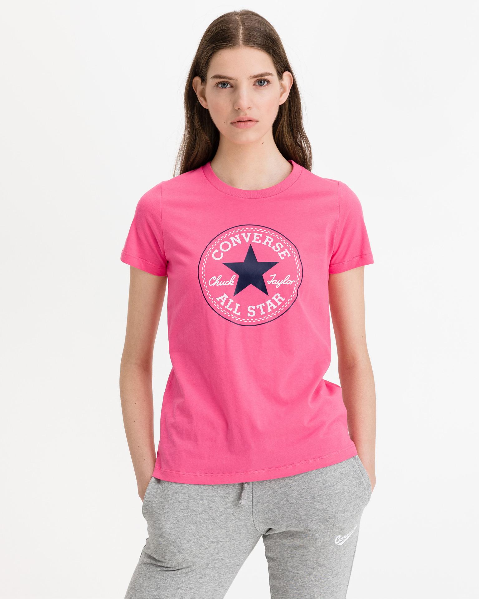 Converse pink women´s T-shirt Chuck Patch Nova