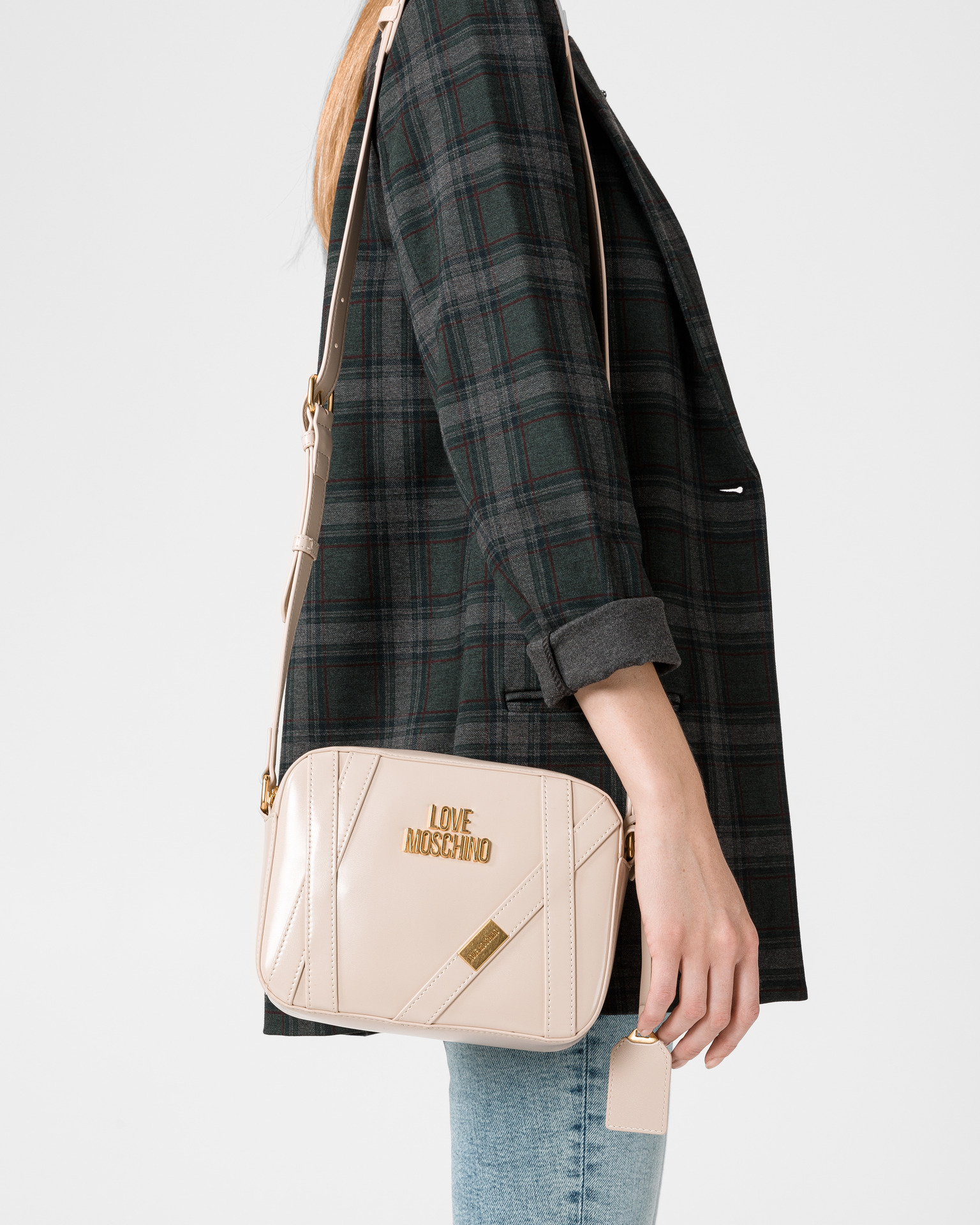 Love Moschino beige crossbody handbag