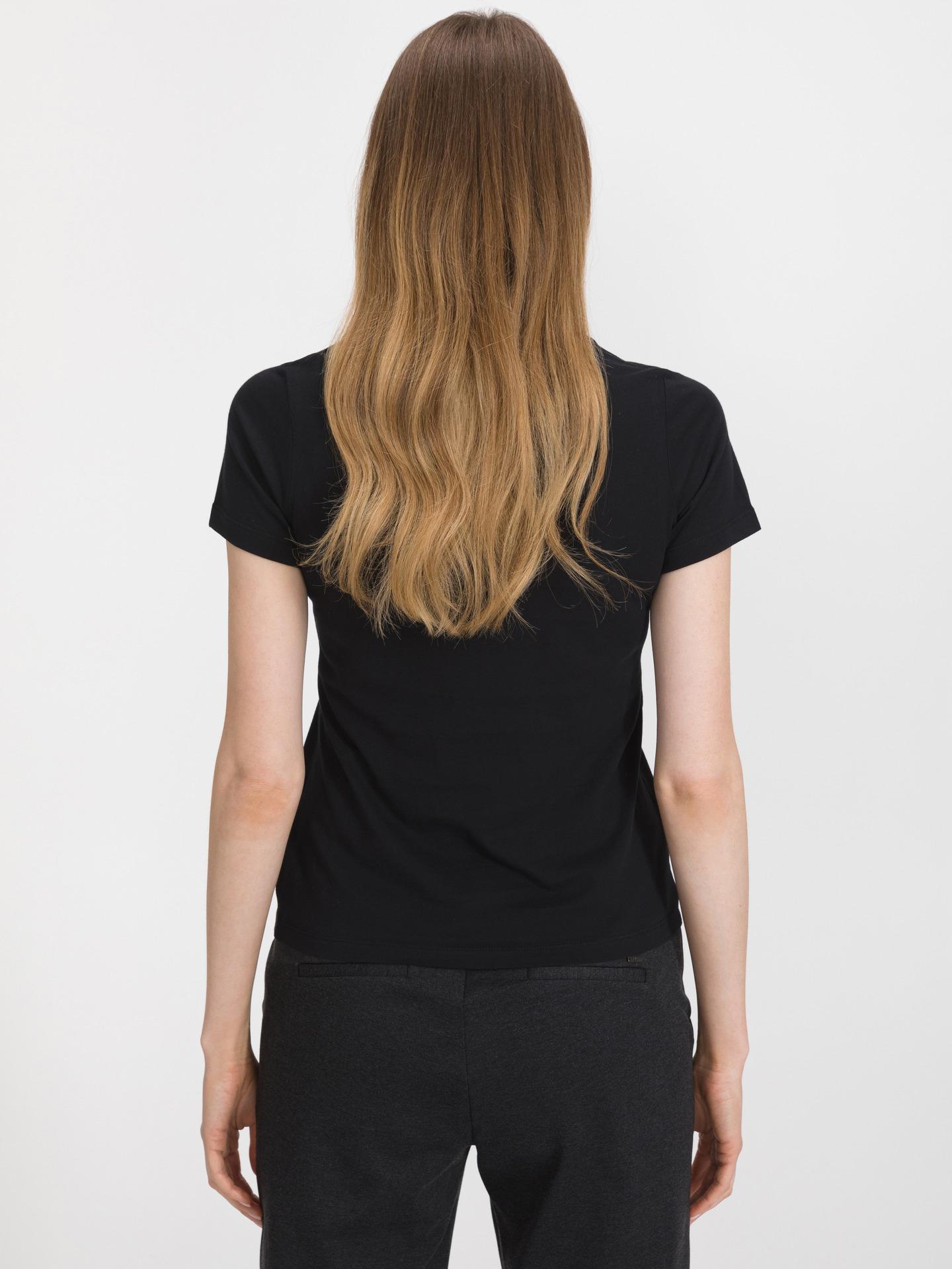 Converse black T-shirt Flower Vibes Chuck Patch
