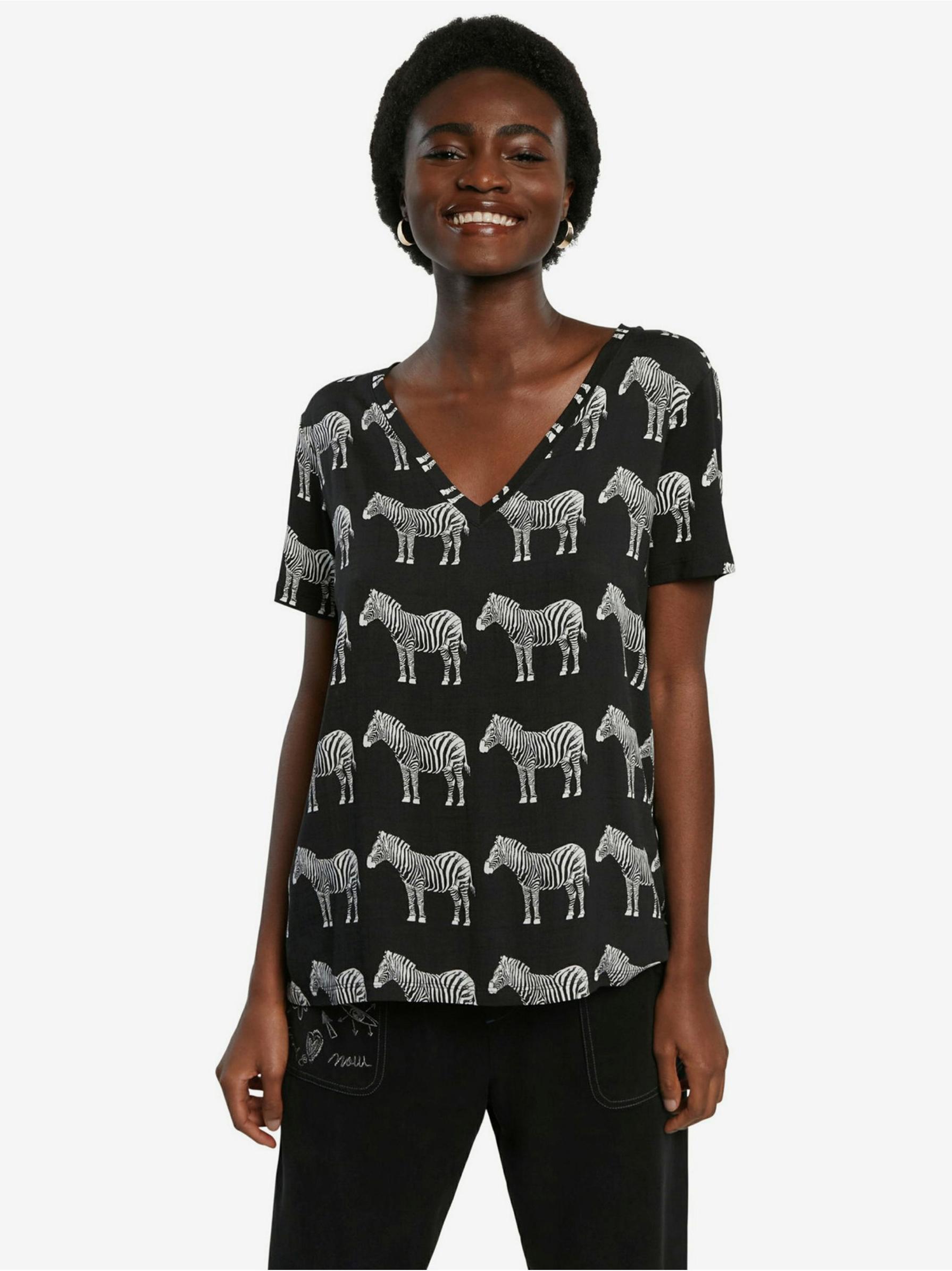 Desigual black T-shirt Bokan