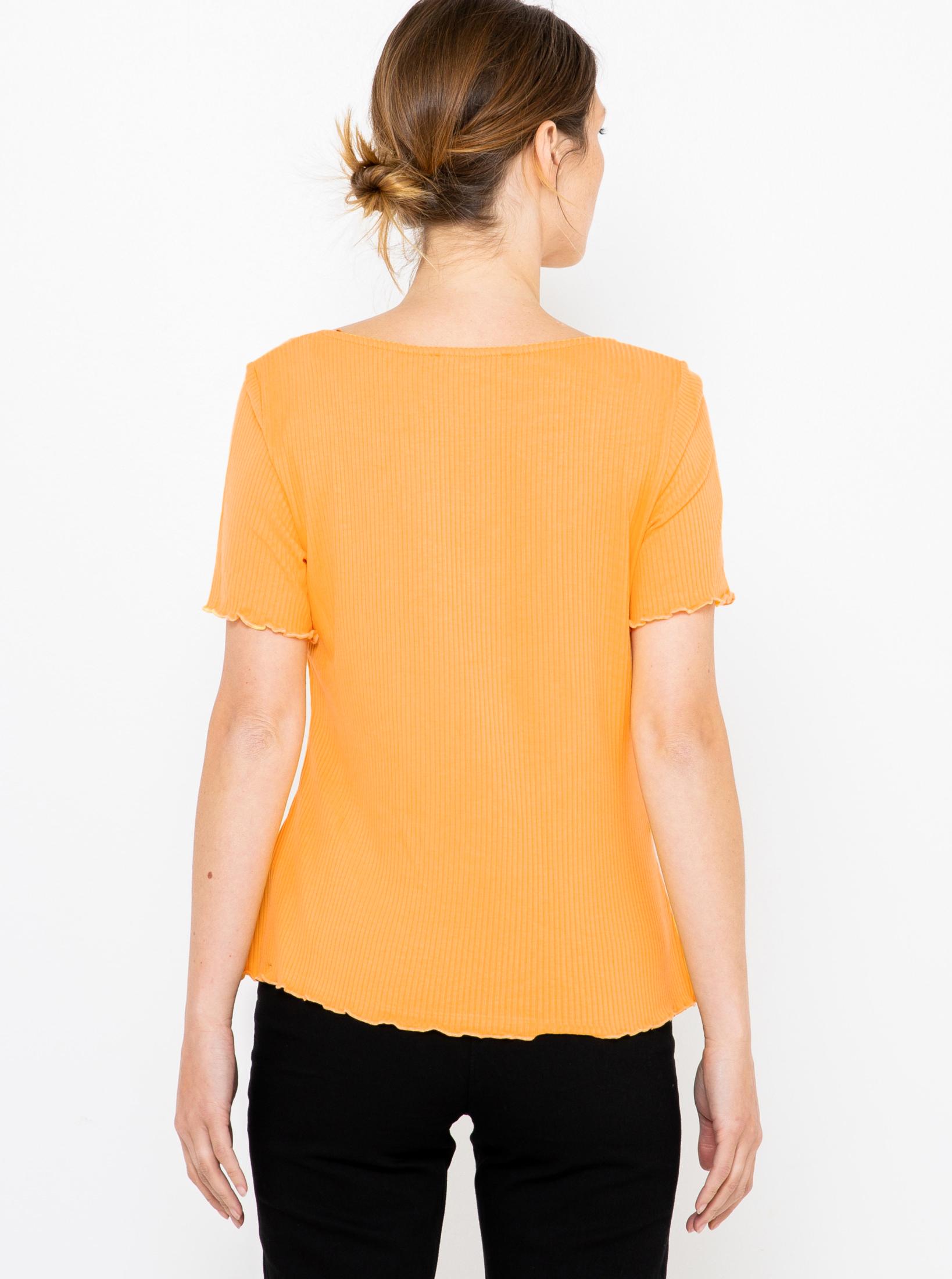 CAMAIEU Women's t-shirt yellow