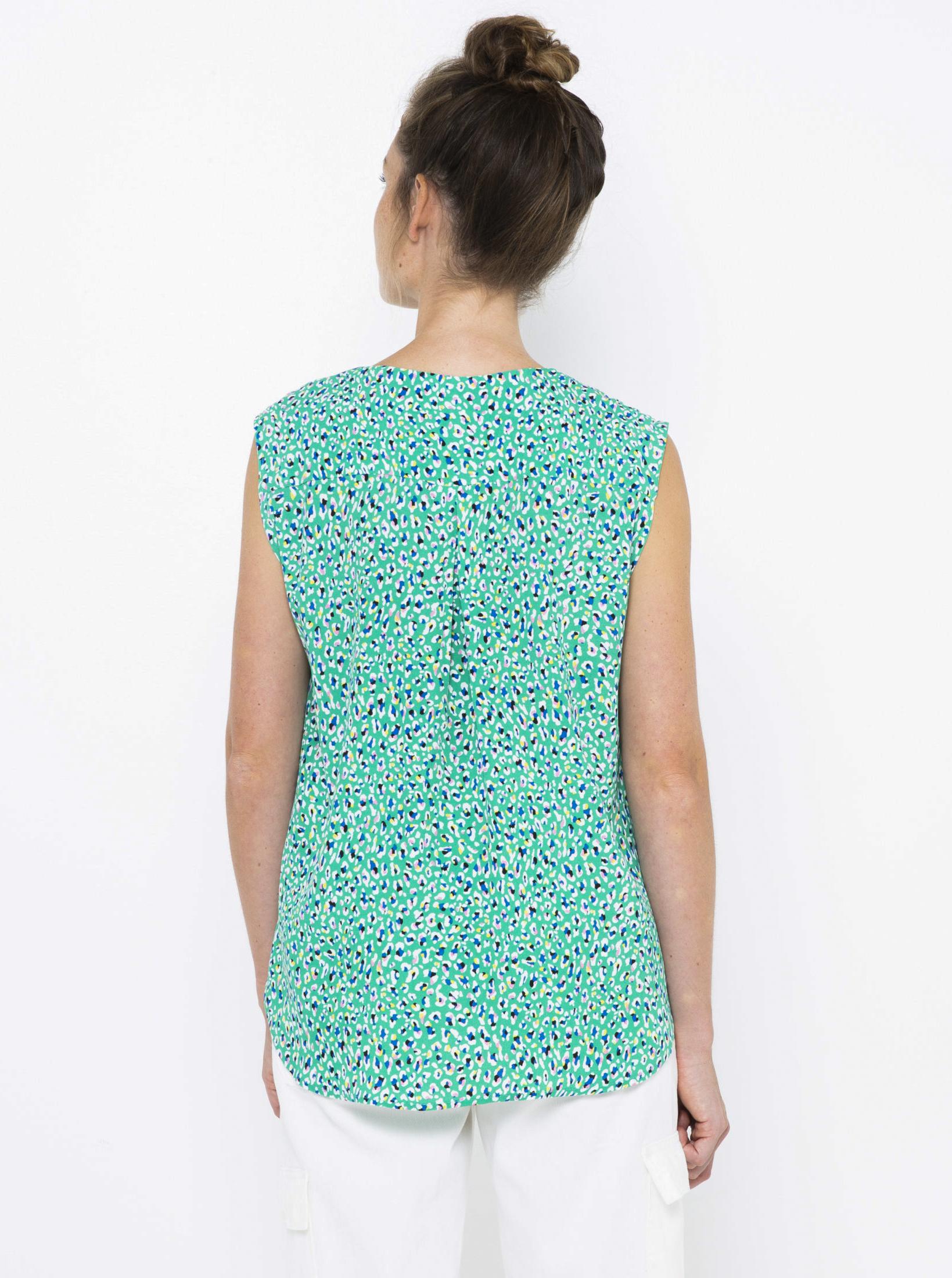 CAMAIEU blue women´s top with pattern