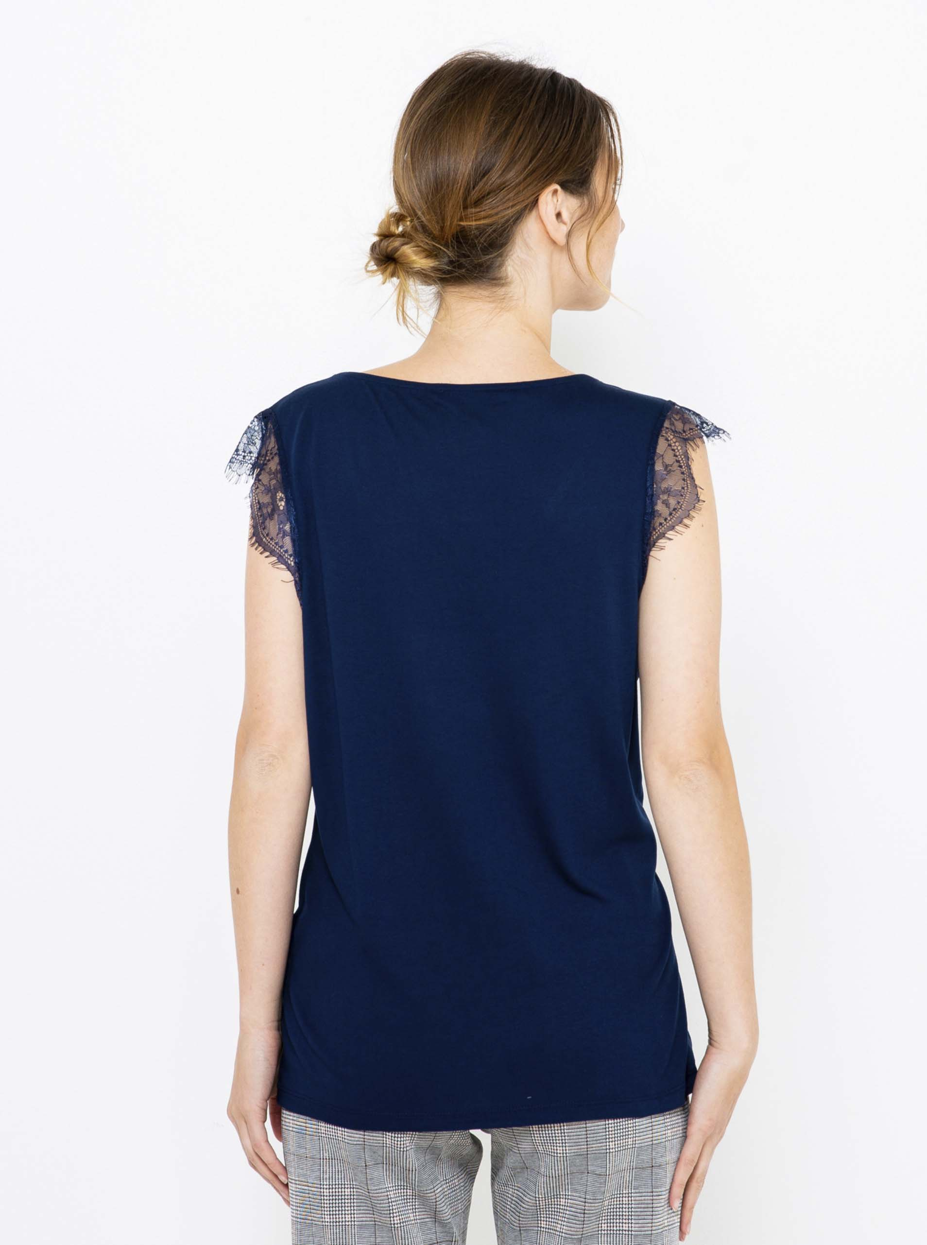 CAMAIEU Women's blouse petrol blue