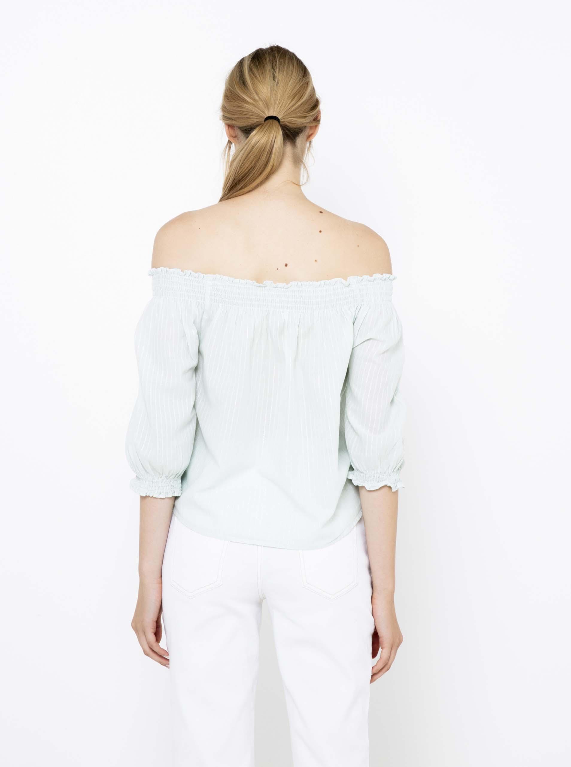 CAMAIEU blue striped blouse