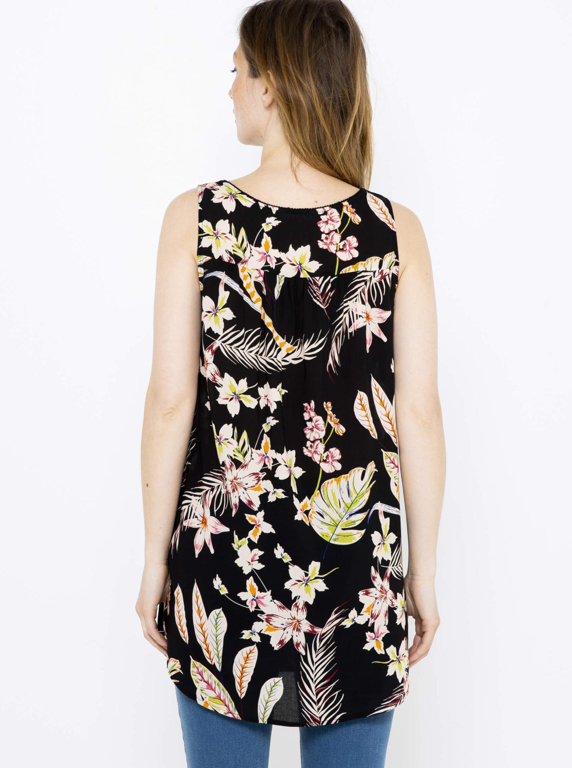 CAMAIEU black top with floral motif