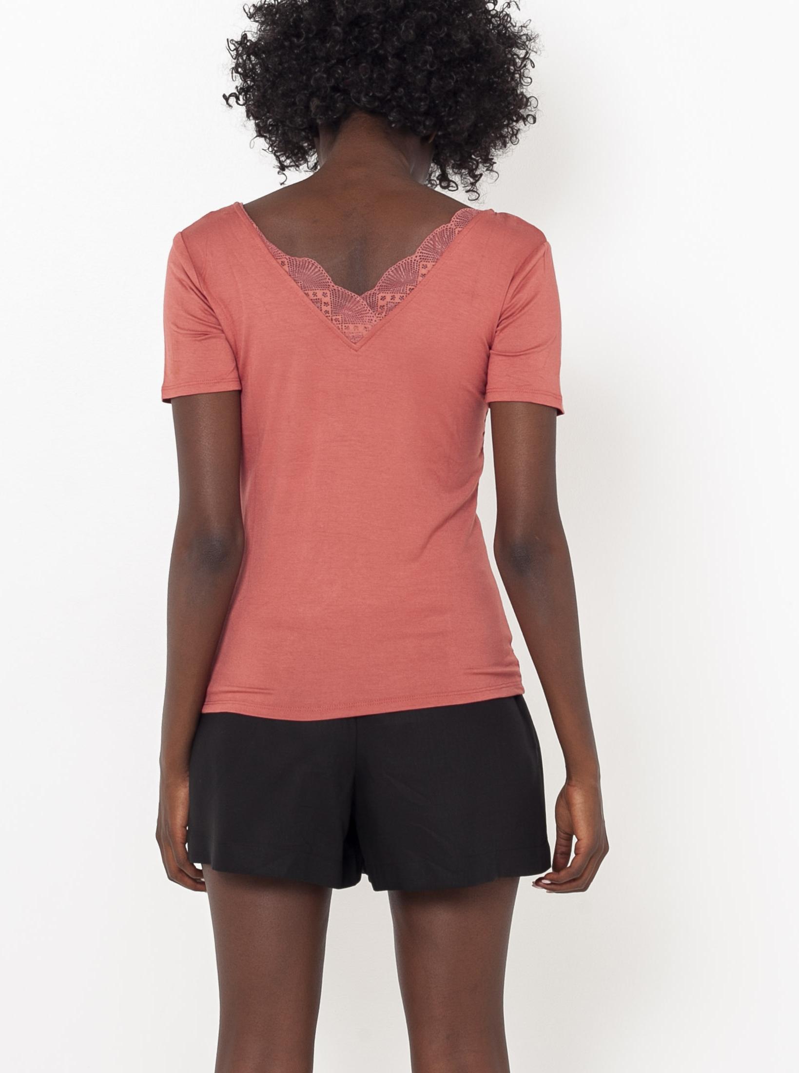 CAMAIEU Women's t-shirt apricot