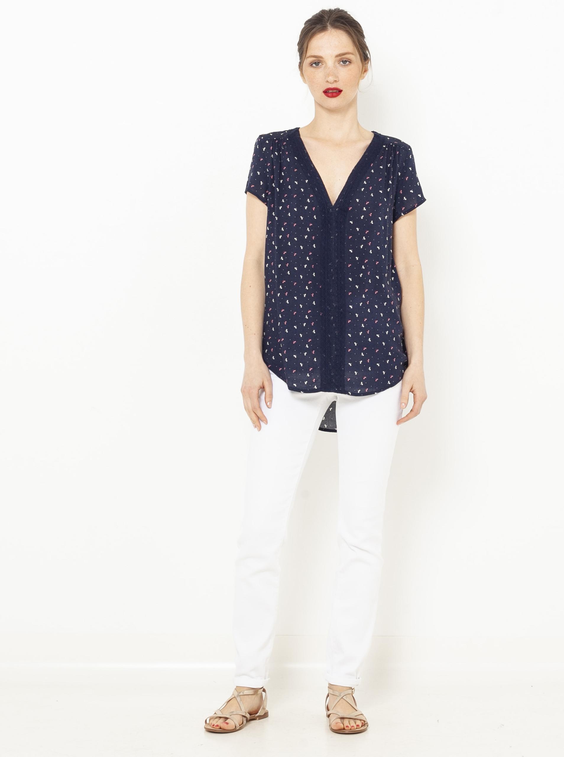 CAMAIEU blue blouse with pattern