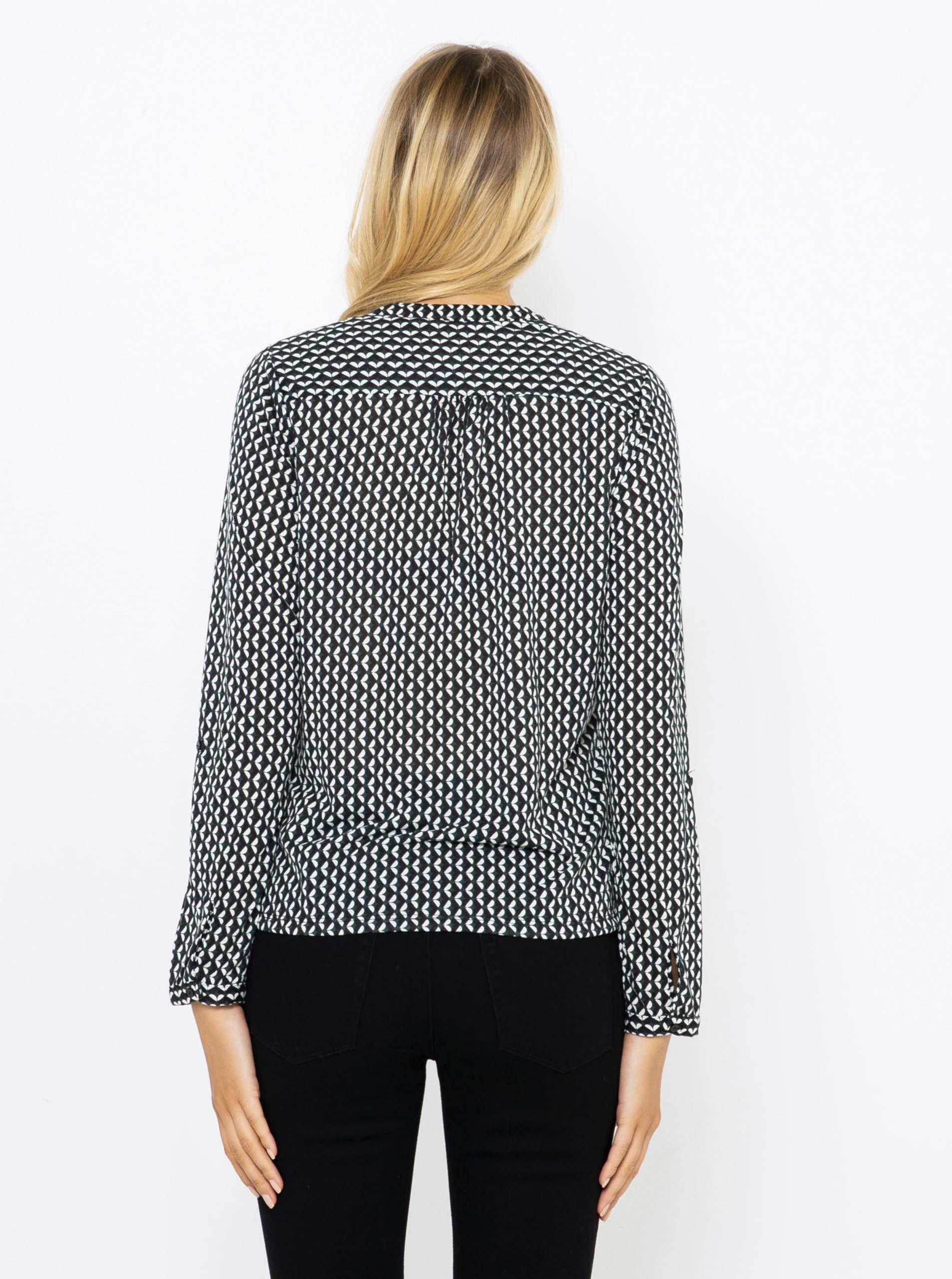 CAMAIEU grey blouse with pattern