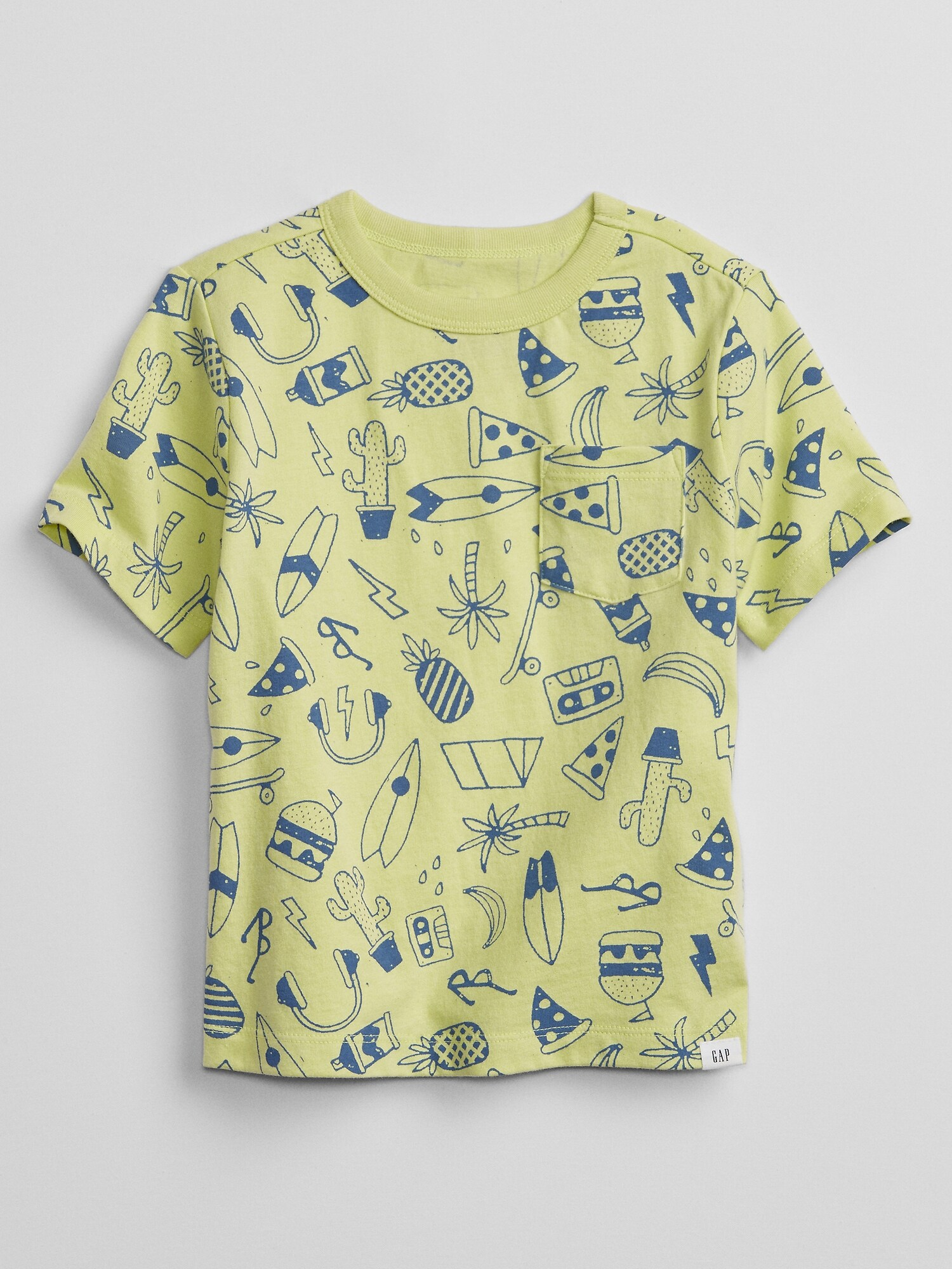GAP Jun SS PTF kids T-shirt Green