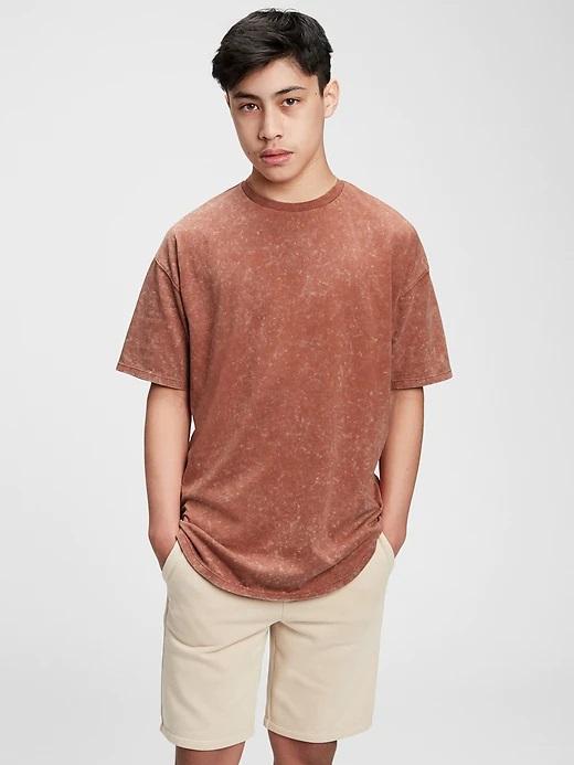 GAP TW Curved HM kids T-shirt Brown