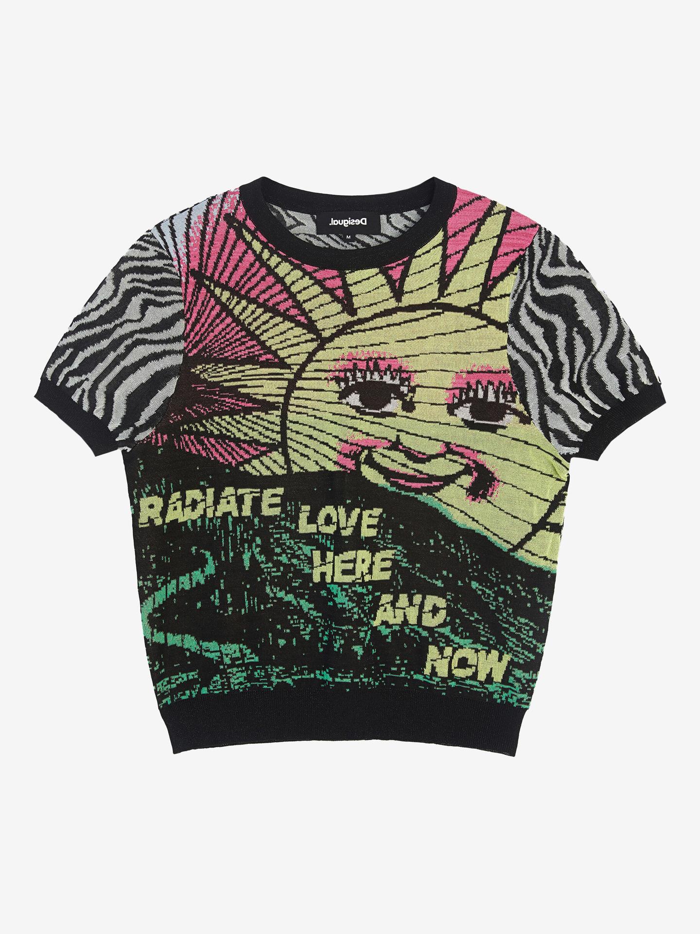 Desigual black T-shirt Radiate