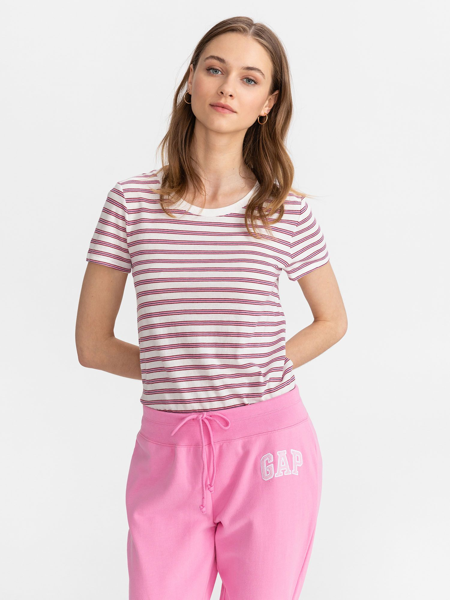 GAP pink striped T-shirt