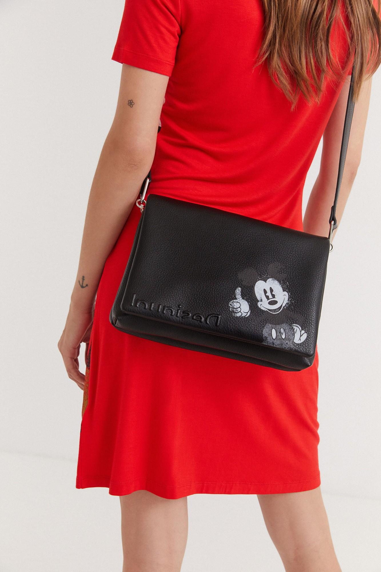 Desigual black crossbody handbag Mickey Dortmund Flap