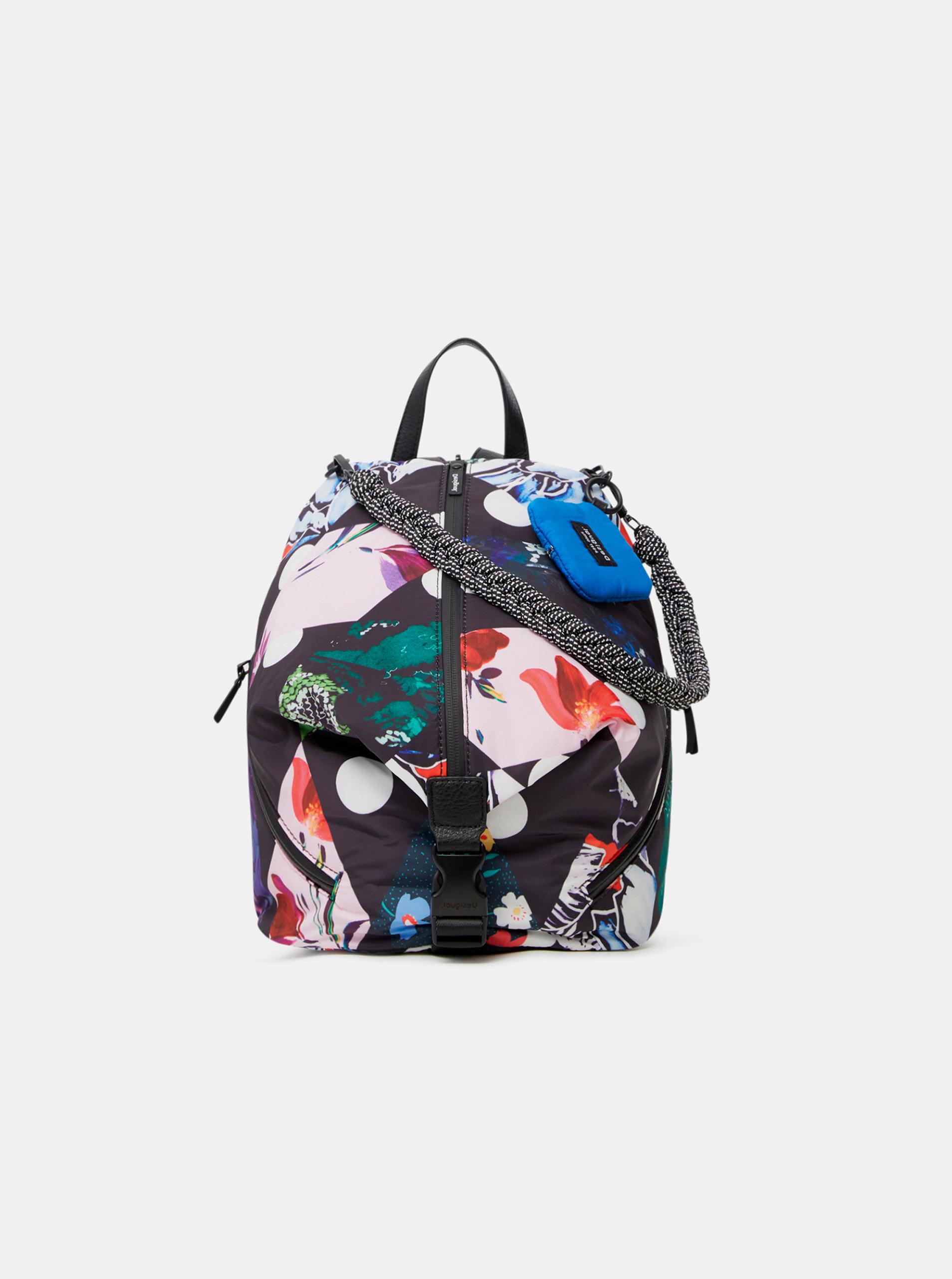 Desigual black backpack Rombos Viana Mini