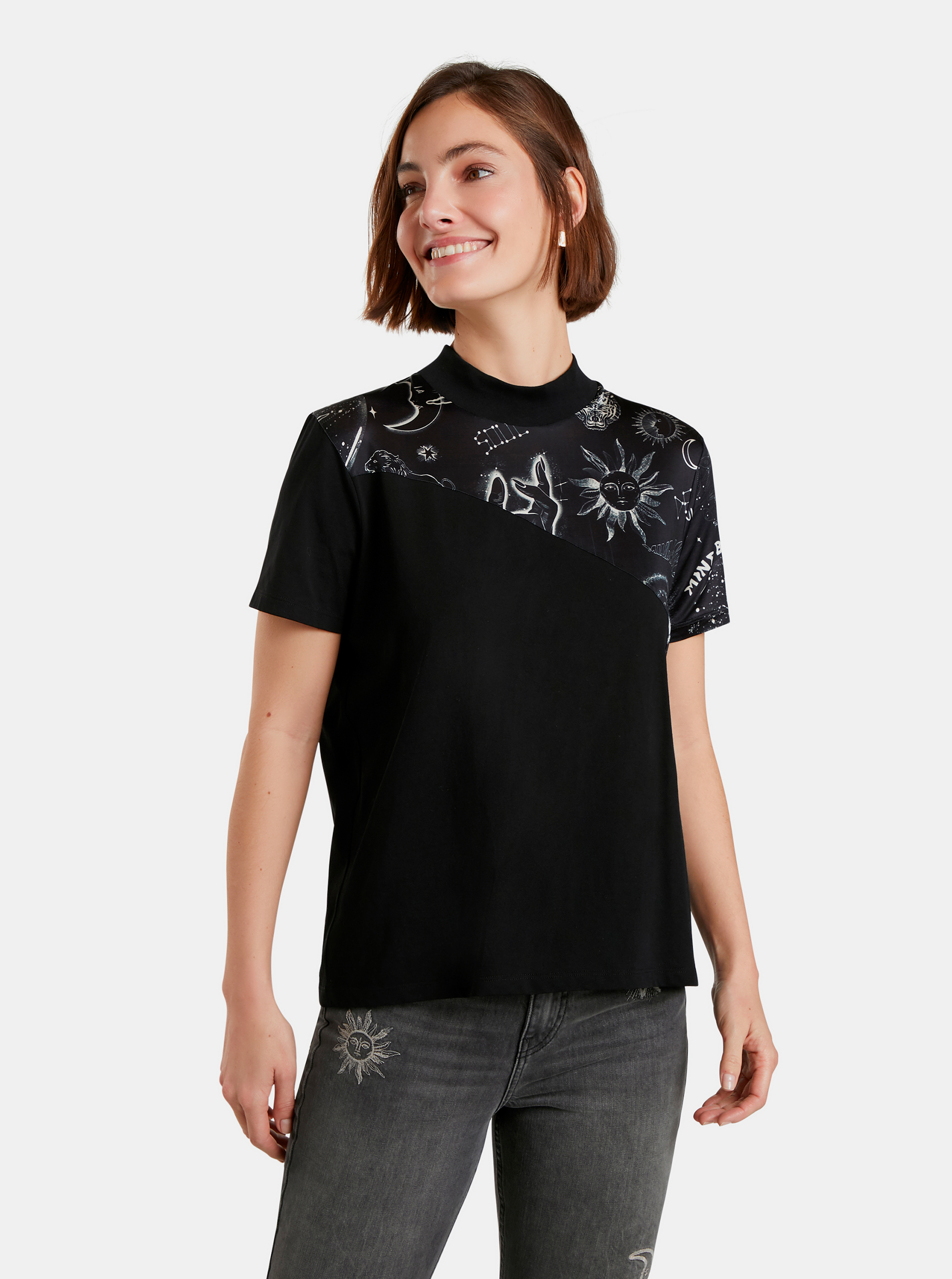 Desigual black T-shirt Grace Hopper
