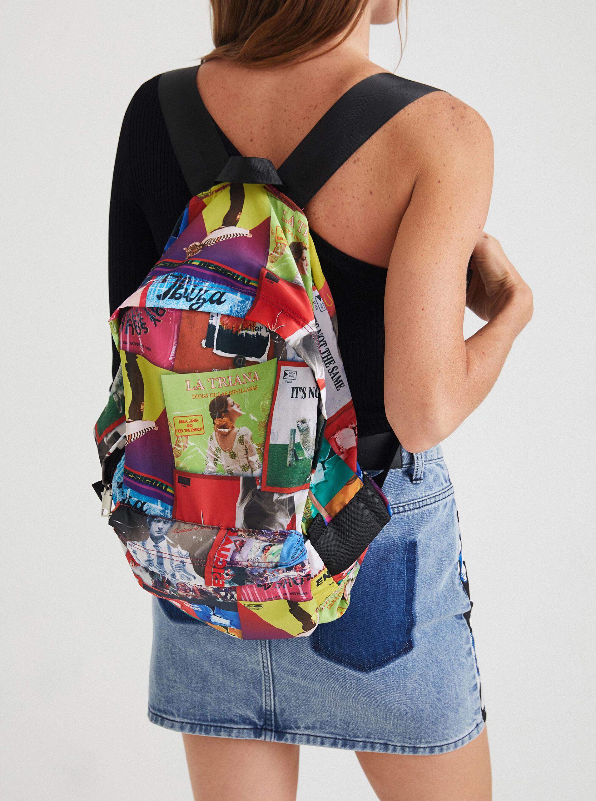 Desigual multicolor backpack Disco Foldes Plegable