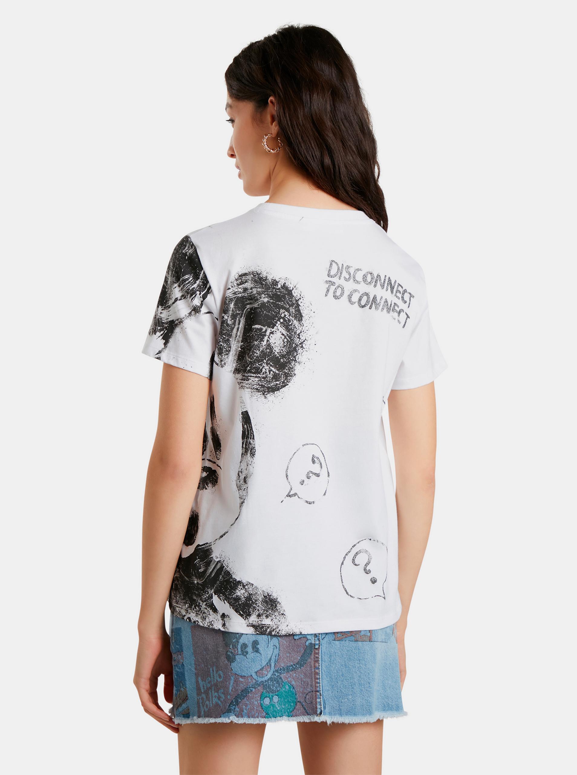 Desigual white T-shirt Mickey