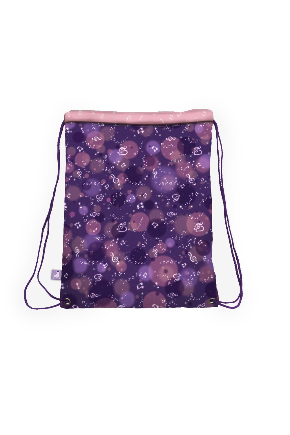 Santoro purple tighten drawstring bag Gorjuss The Duet