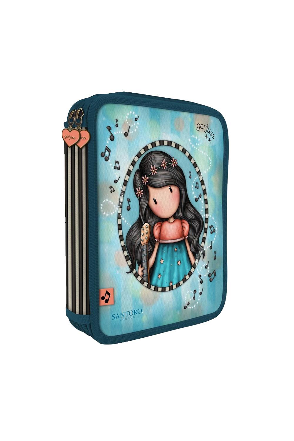Santoro blue double decker pencil case Gorjuss Melodies This One´s ...