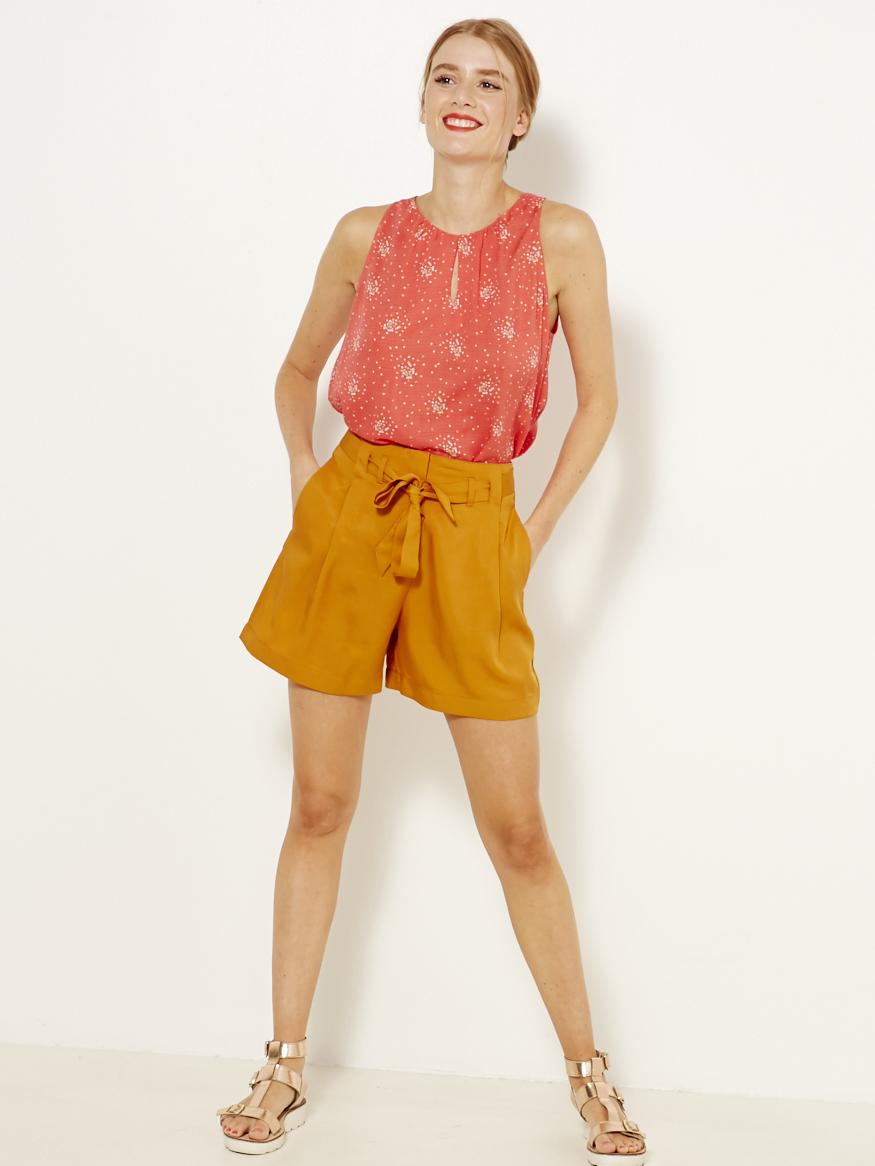 CAMAIEU Women's blouse red