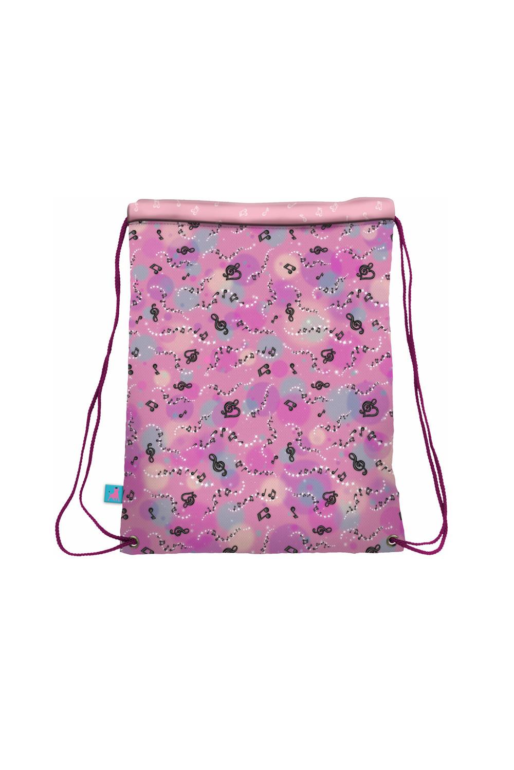 Santoro pink tighten drawstring bag Gorjuss Dancing Among The Stars