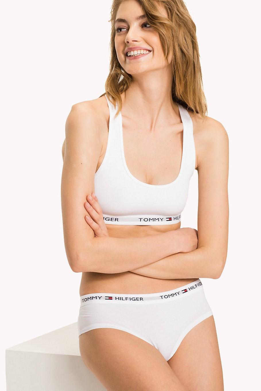 2bc141e1f1b Tommy Hilfiger white sports bra Bralette Iconic - Underwear ...
