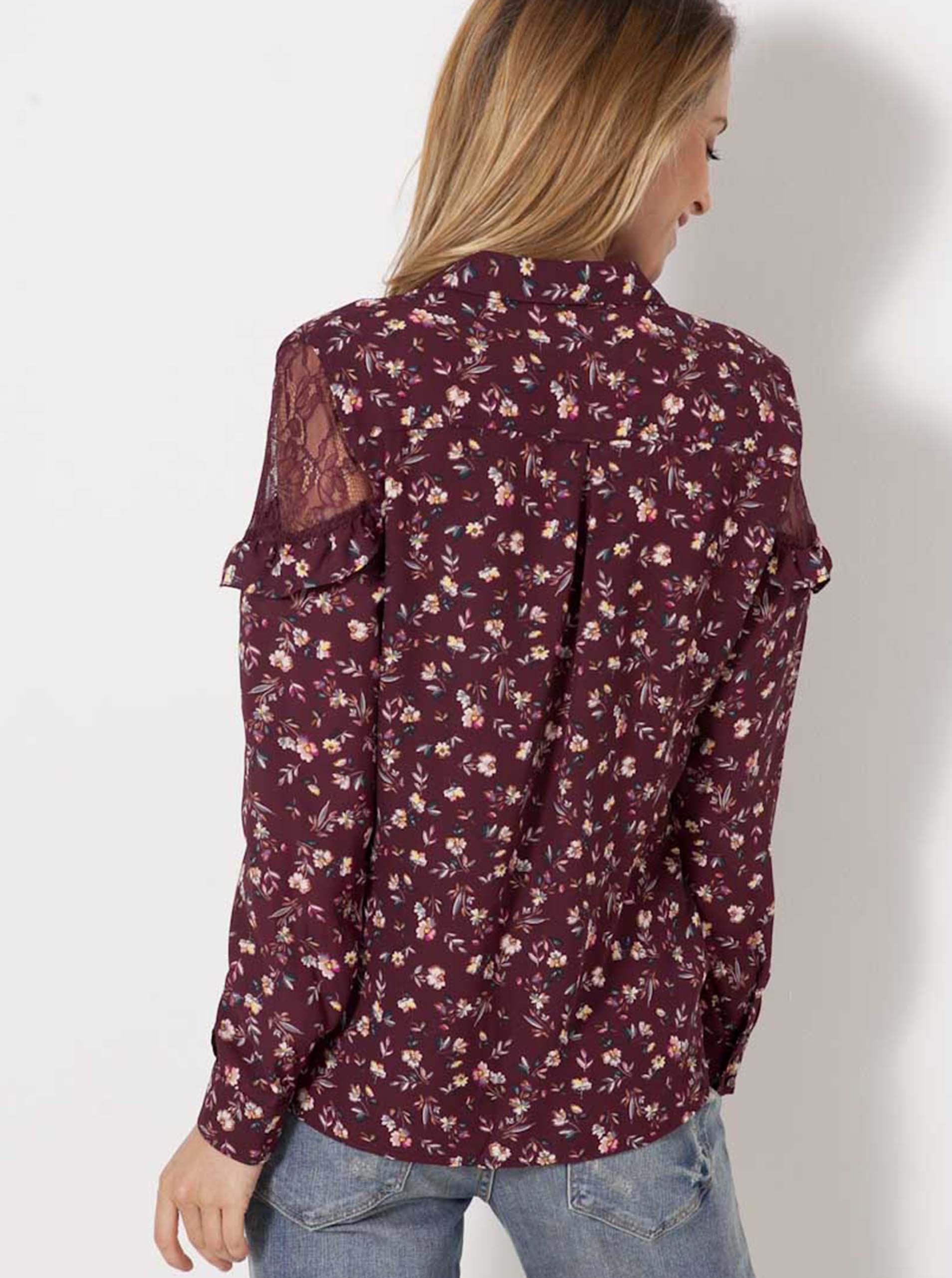 CAMAIEU Women's blouse wine red