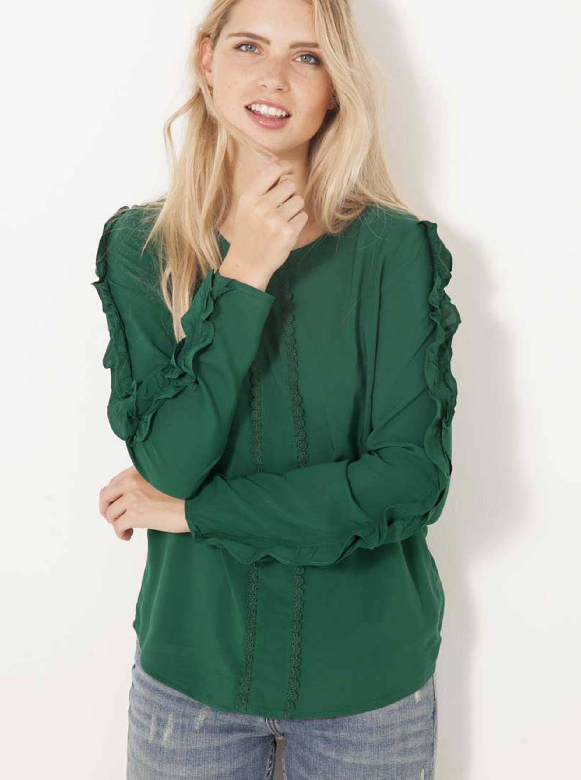 CAMAIEU Women's blouse green