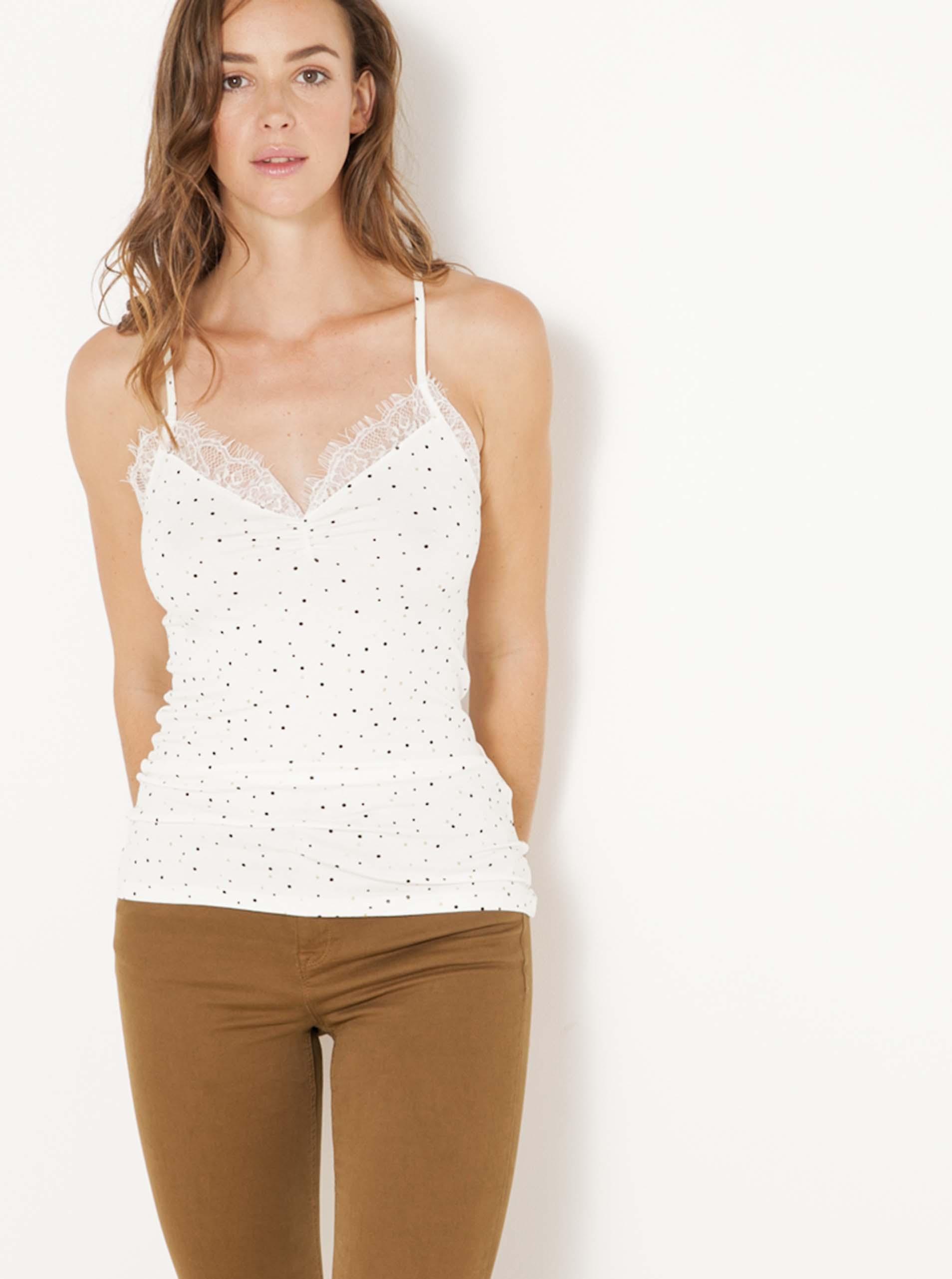 CAMAIEU Women's top white