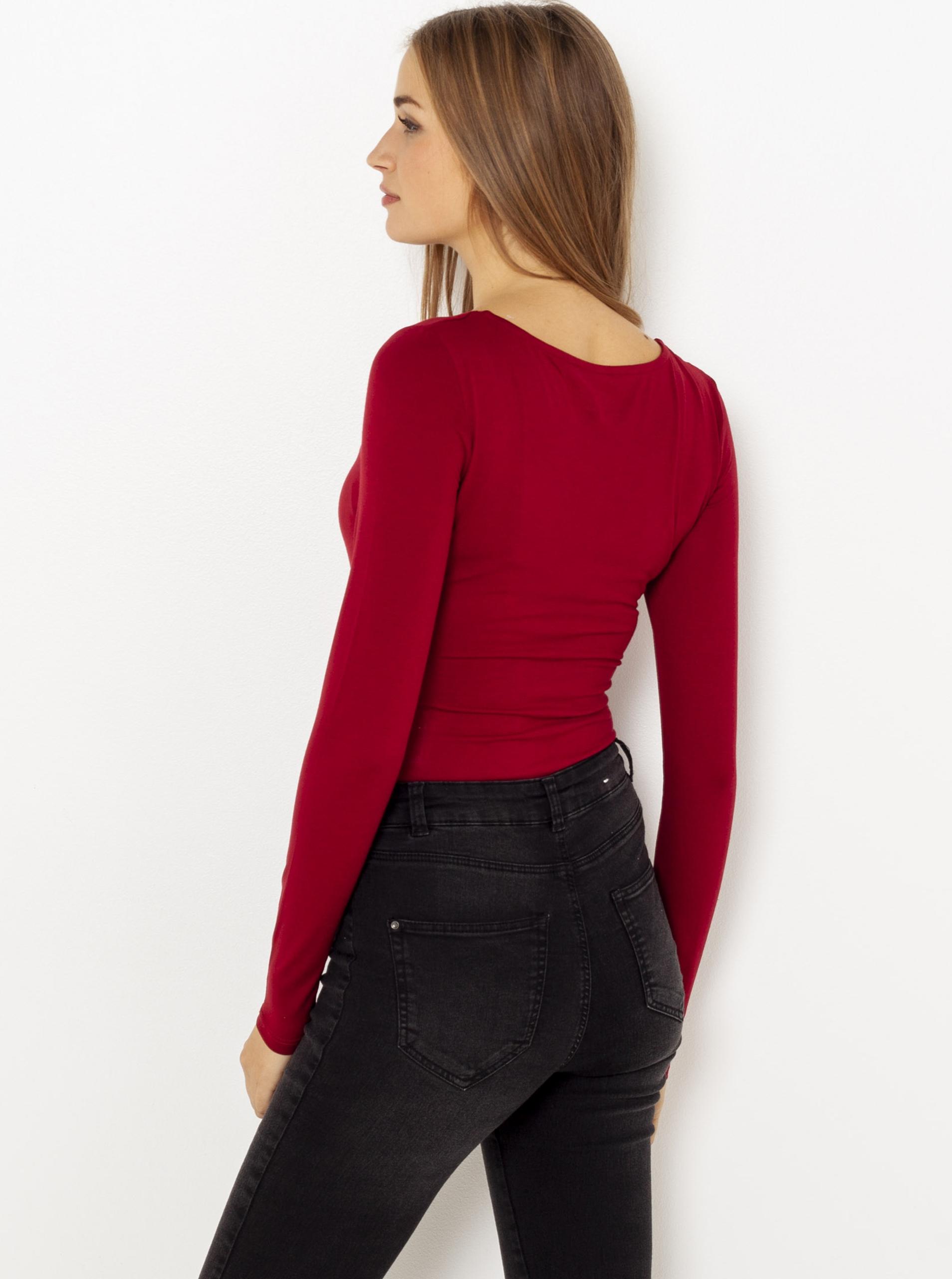 CAMAIEU Women's bodysuit red