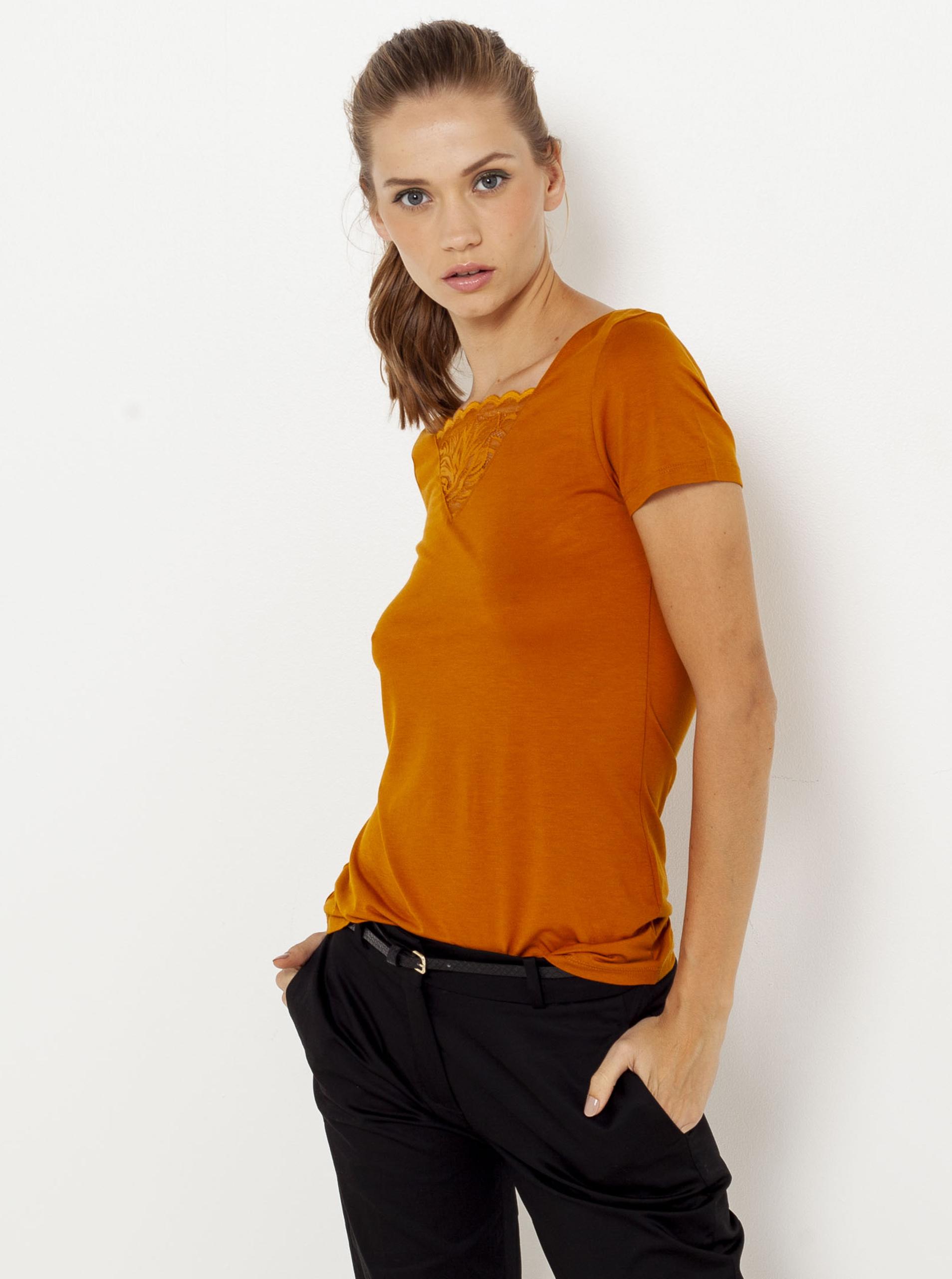 CAMAIEU Women's t-shirt orange